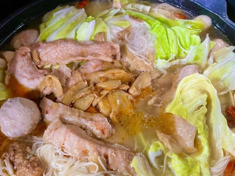 麻油松阪豬麵線