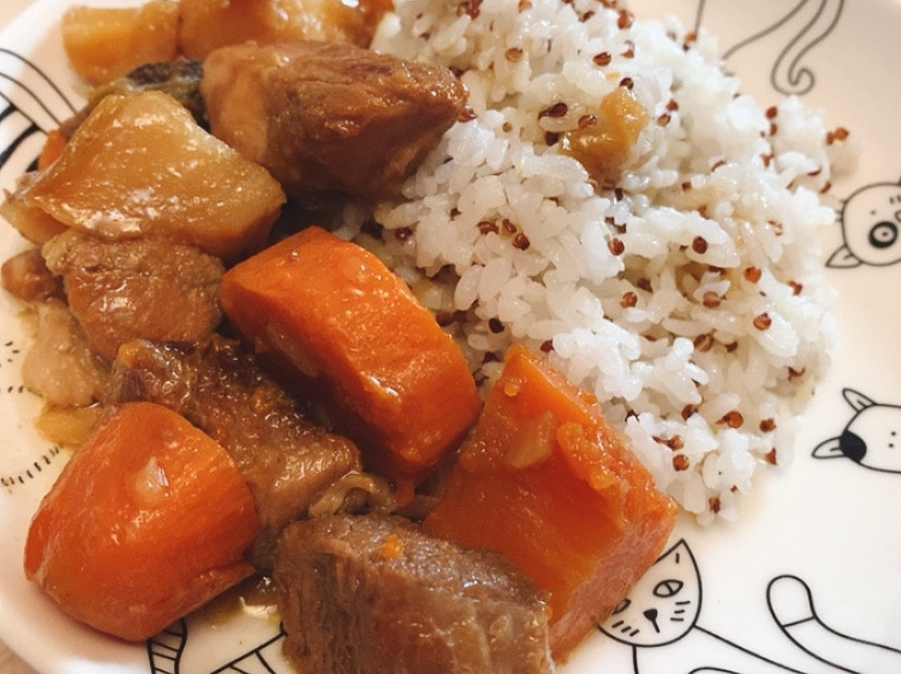 快速料理 馬鈴薯燉肉x藜麥飯
