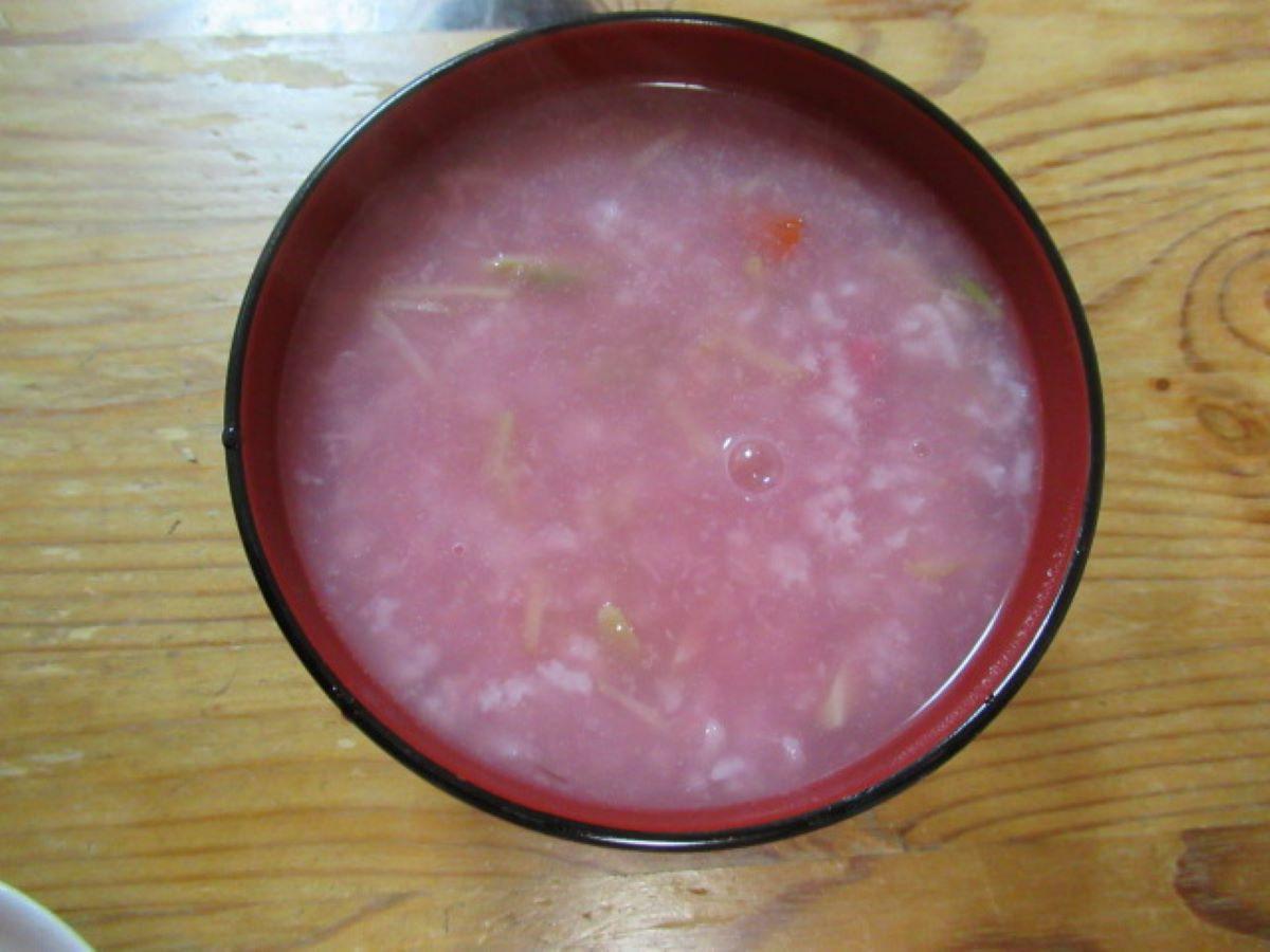 芯裡美(紅芯蘿蔔)粥
