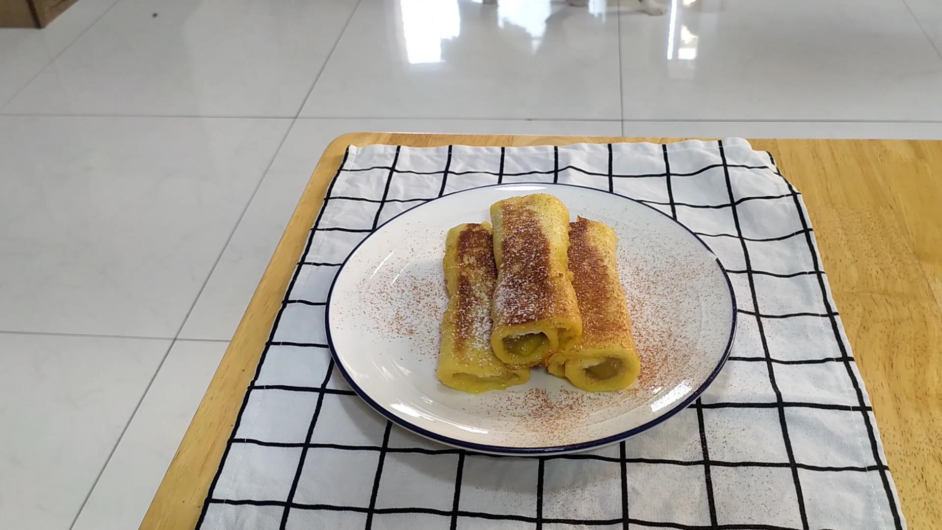 法式香蕉吐司捲