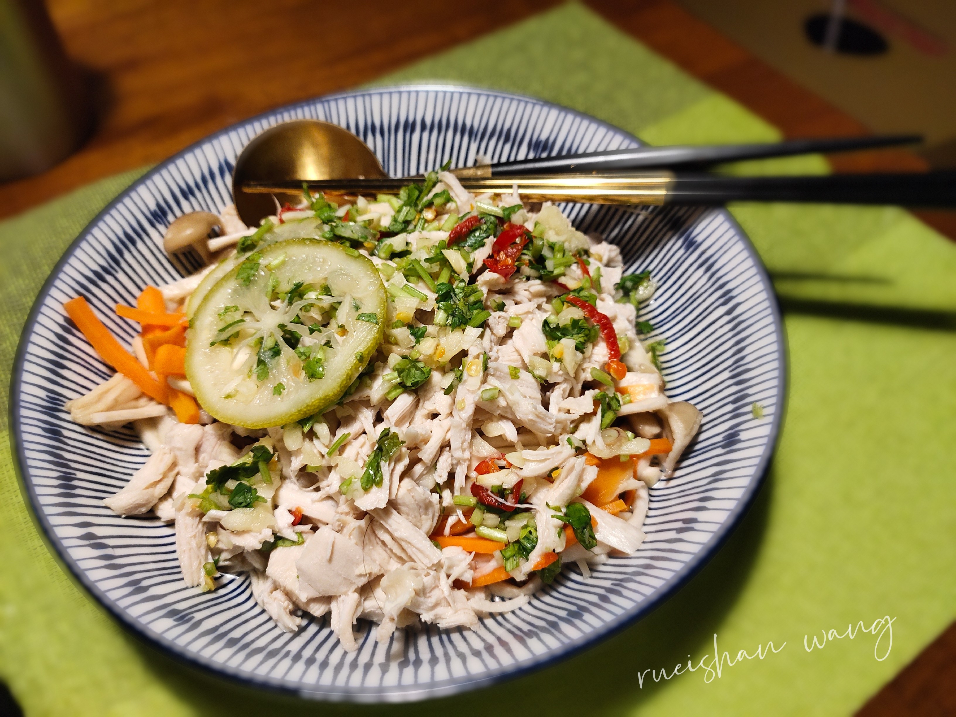 泰式涼拌菇菇雞絲