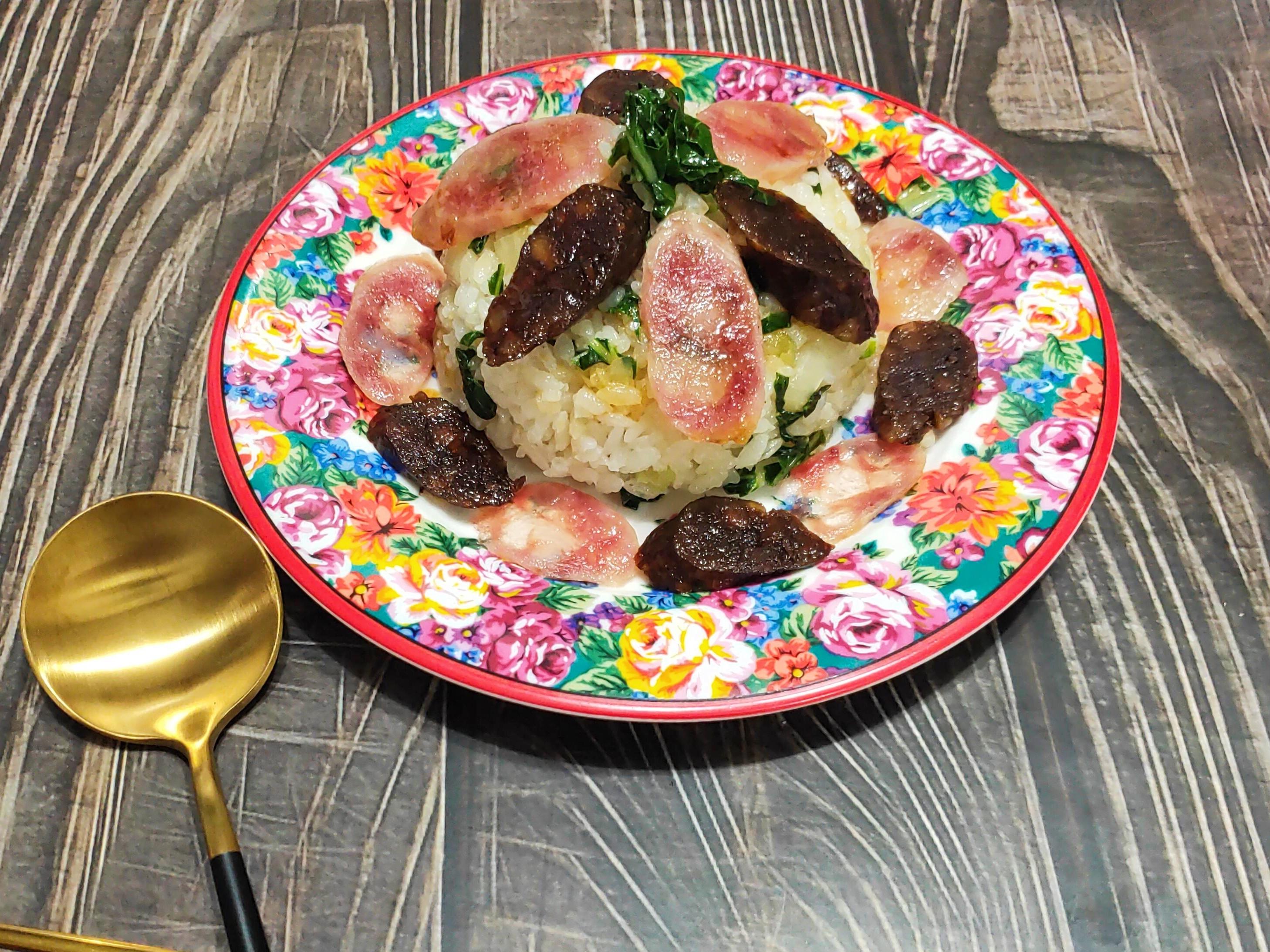 lanni 鑄鐵鍋蒸臘腸飯