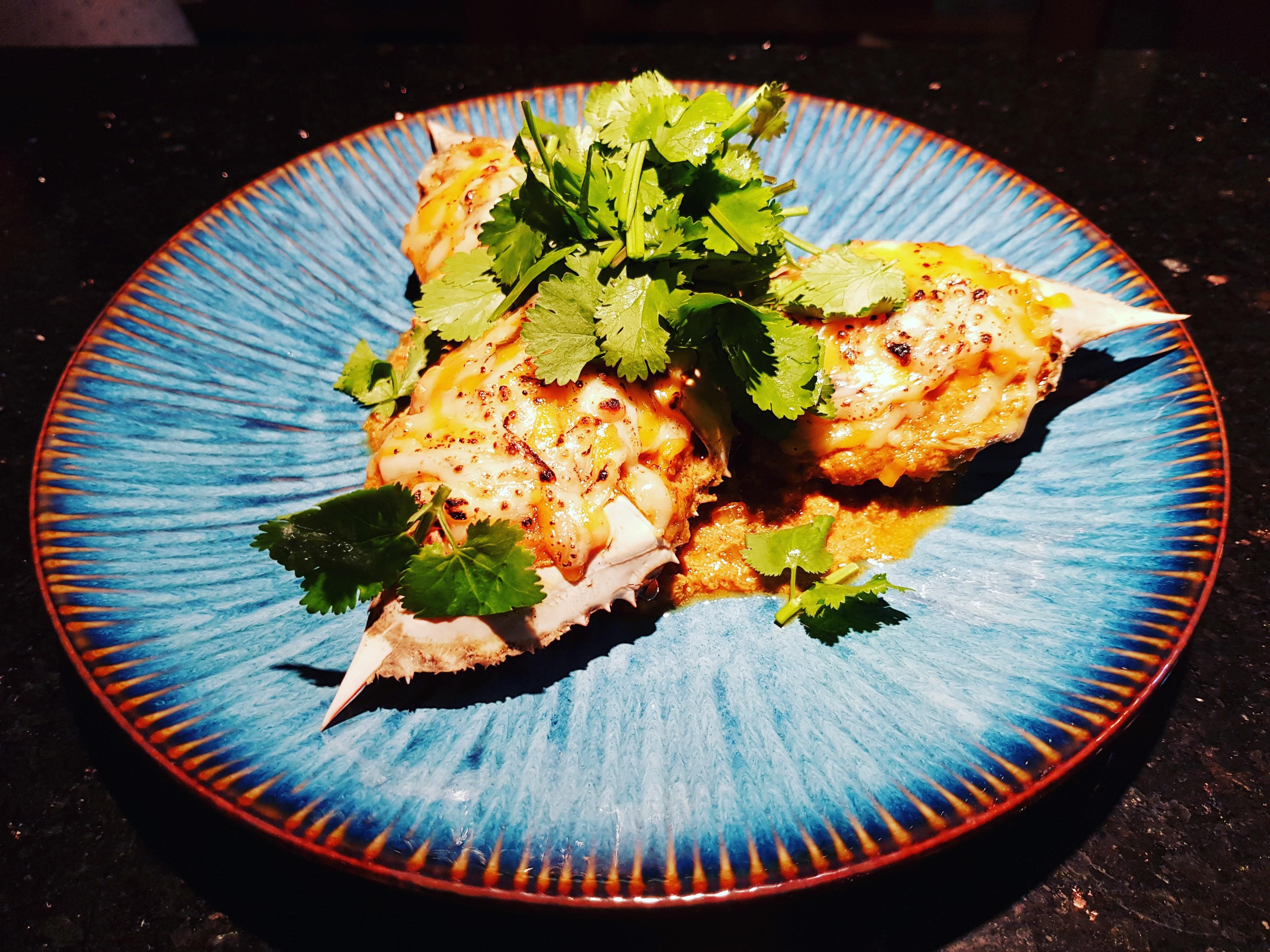 焗烤泰式咖哩螃蟹