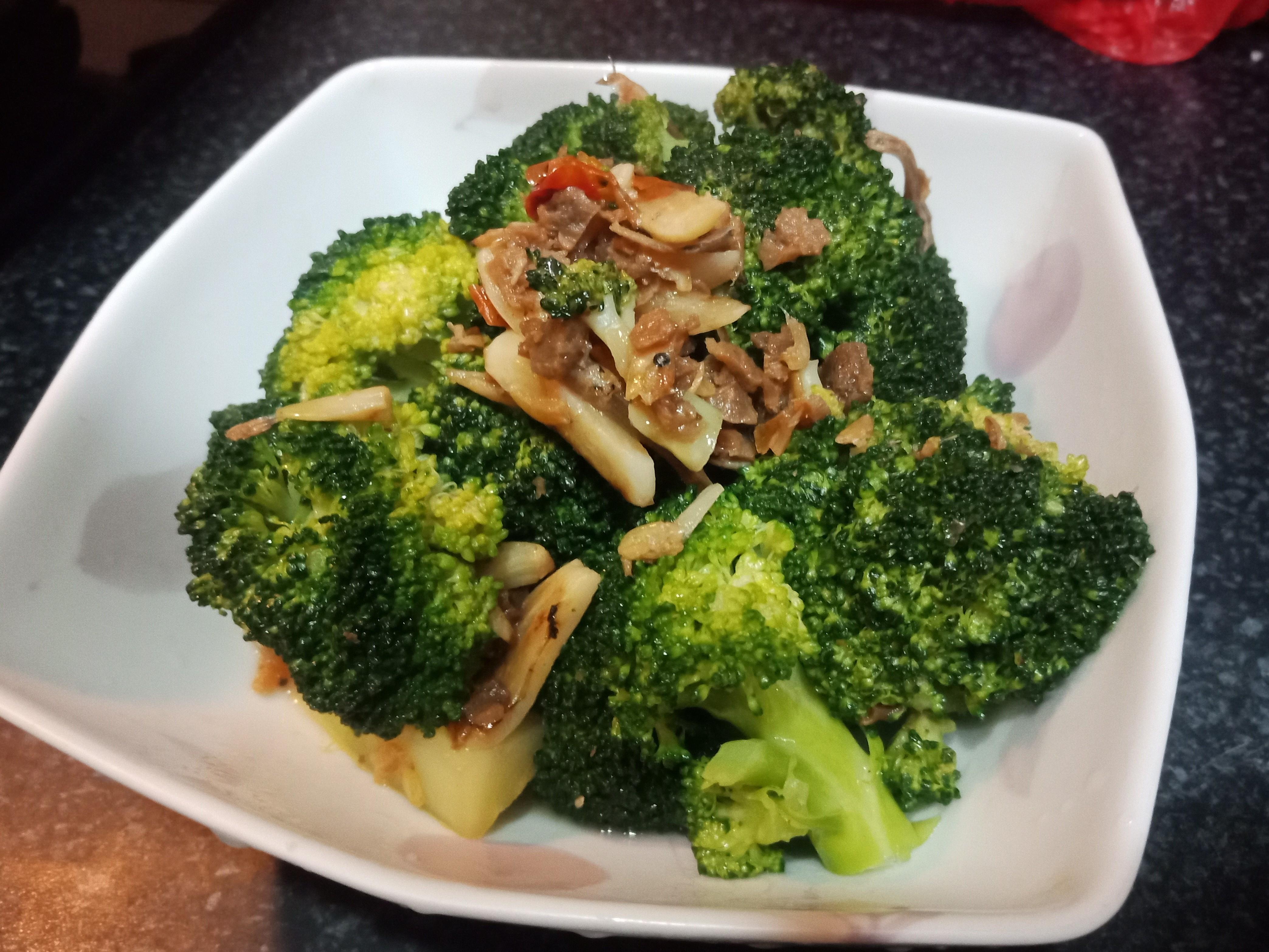 【緊張的】干貝XO醬蒜香綠花椰菜