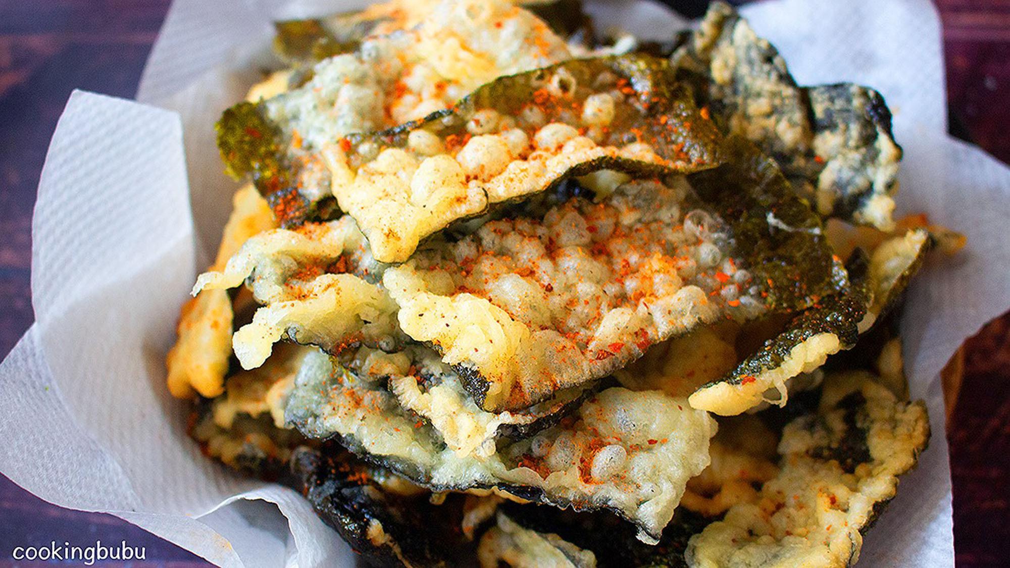 超級酥脆 海苔天婦羅 只要4種材料