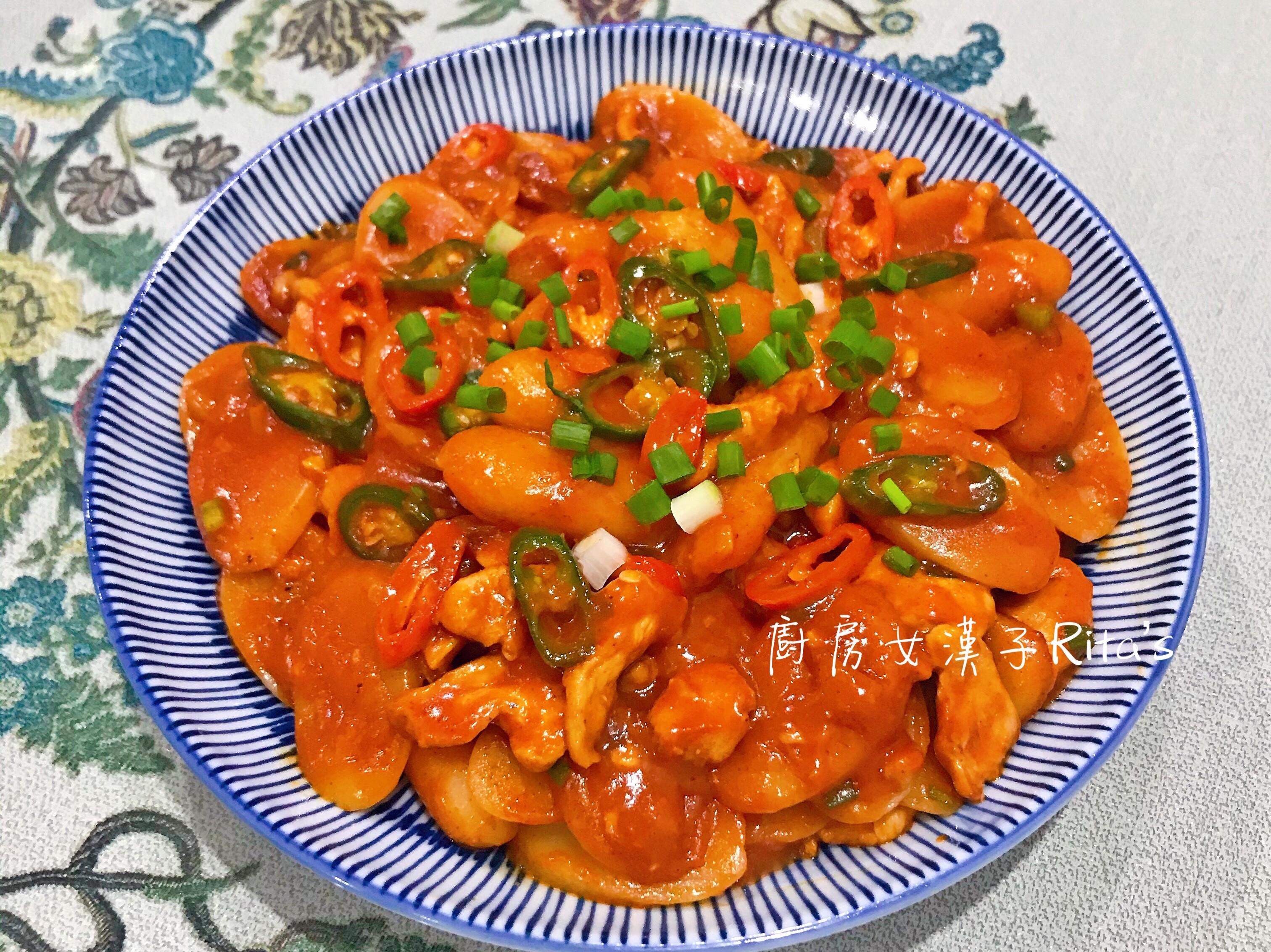 韓式辣炒雞肉年糕