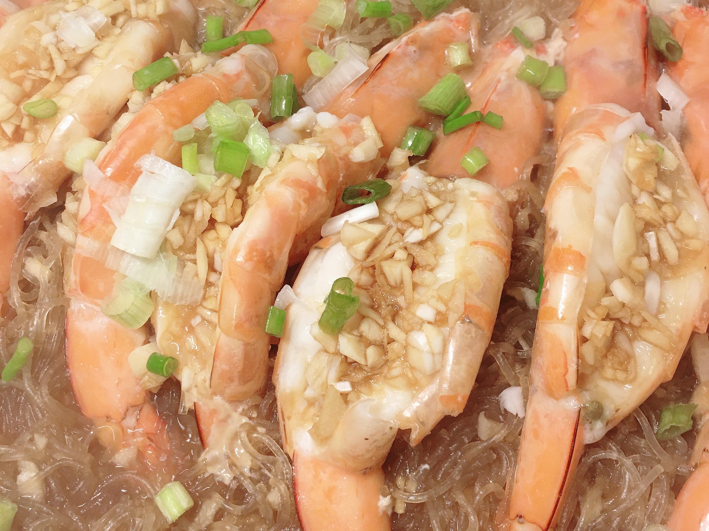 蒜蓉鮮蝦粉絲煲