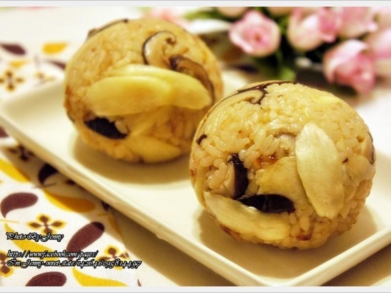 香菇筊白筍炊飯糰