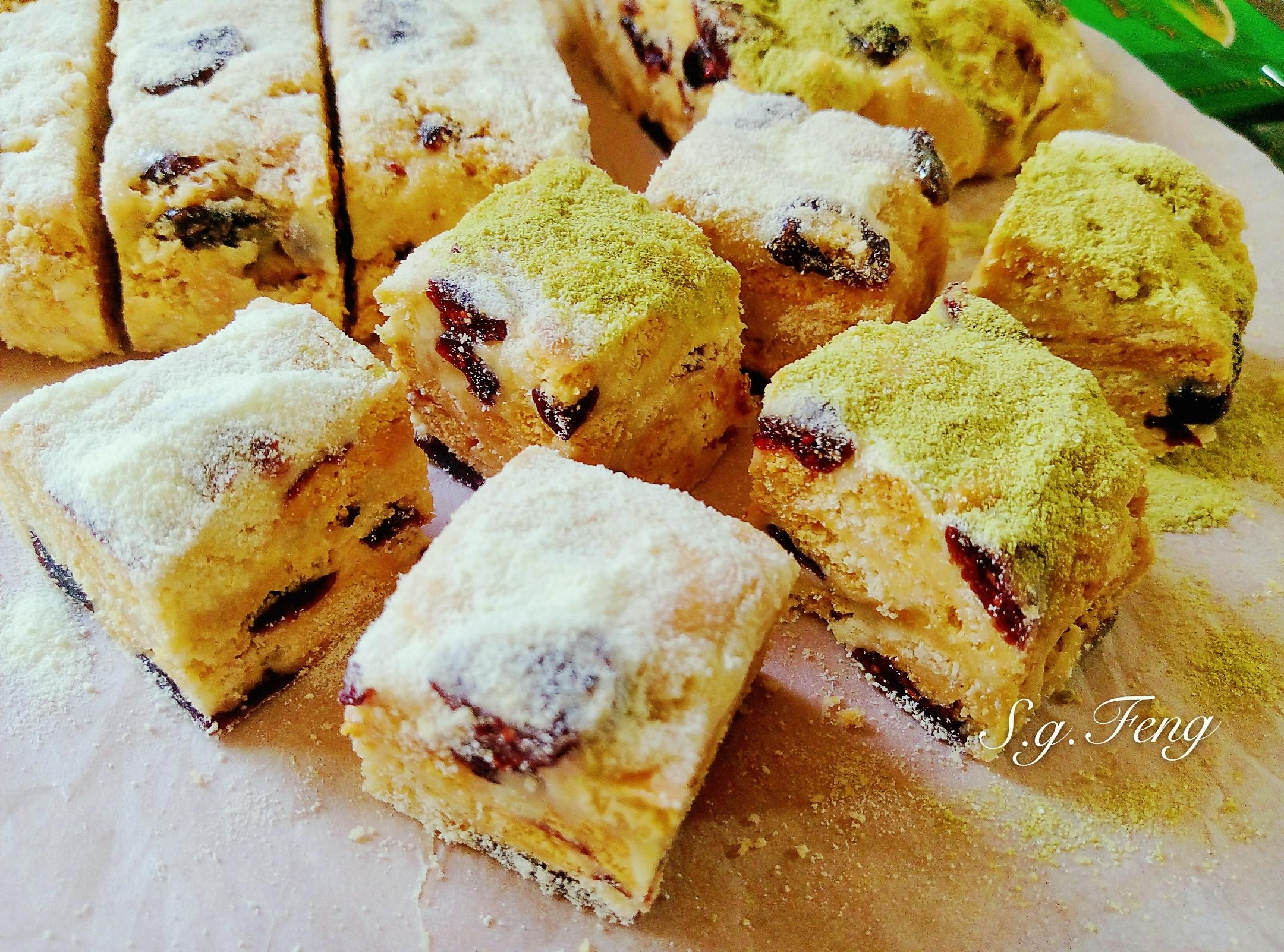 蔓越莓雪Q餅(奶香&抹茶口味)