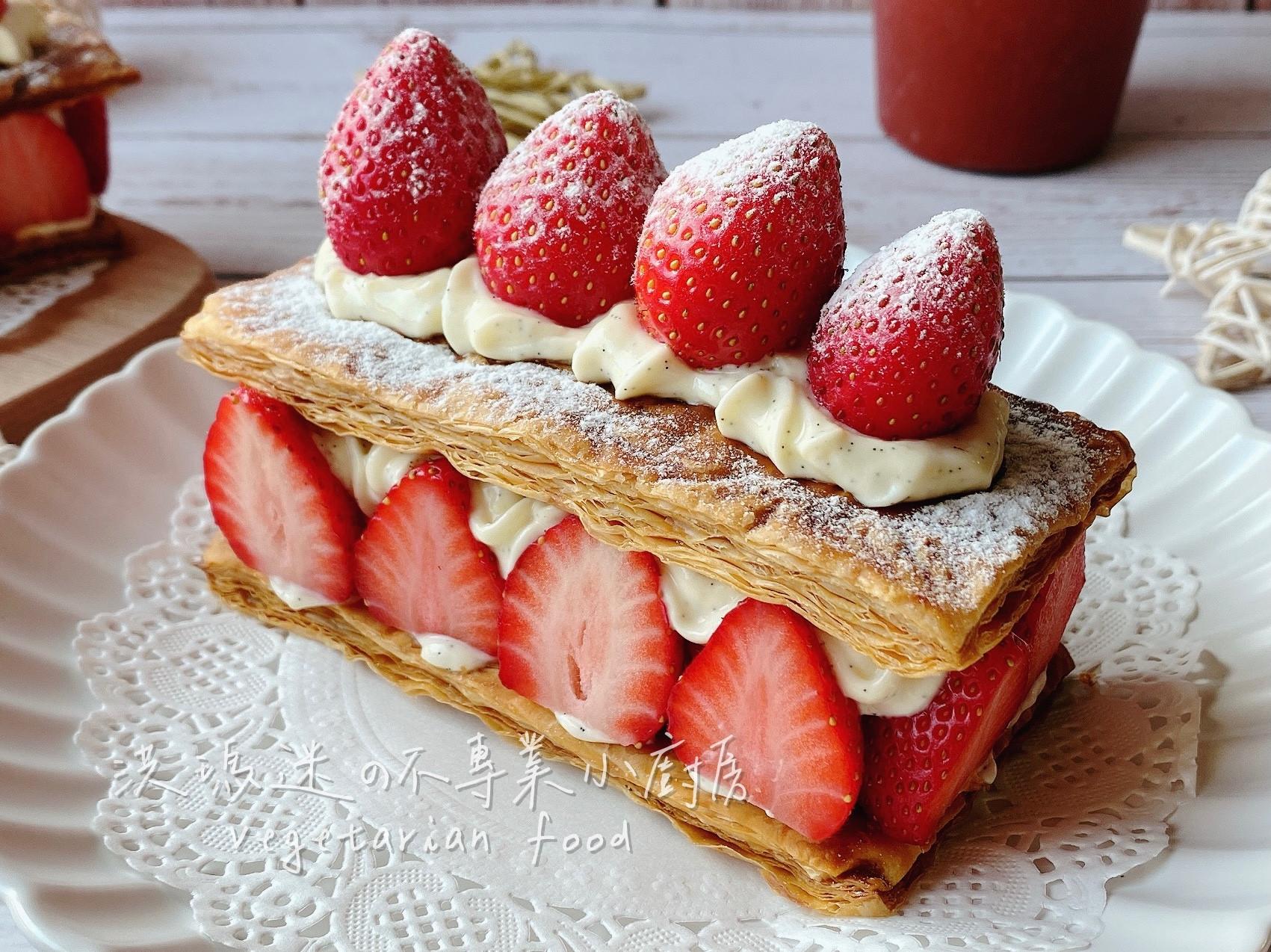 起酥。草莓千層(簡易版)