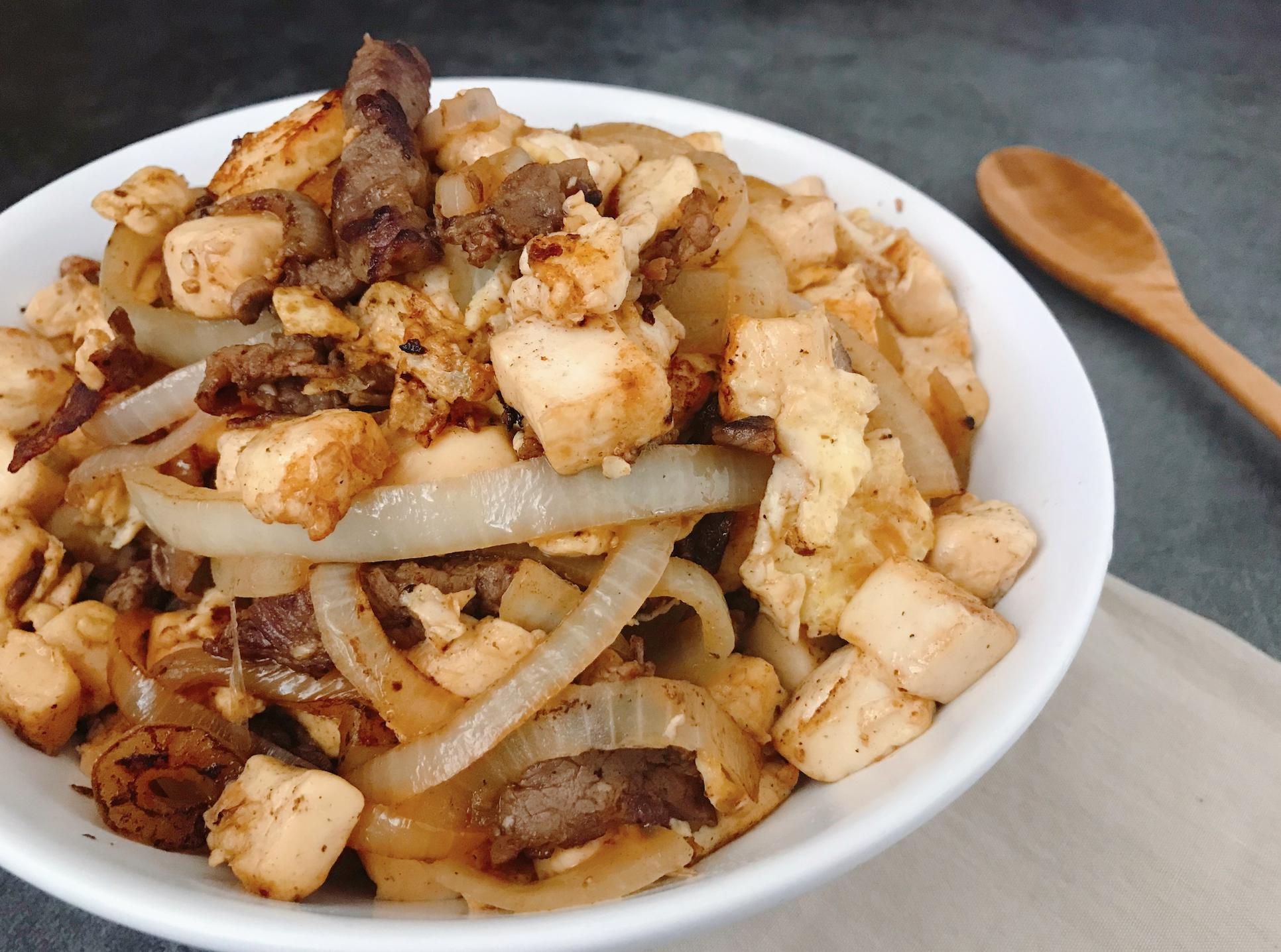 蒙古烤肉風雞蛋豆腐