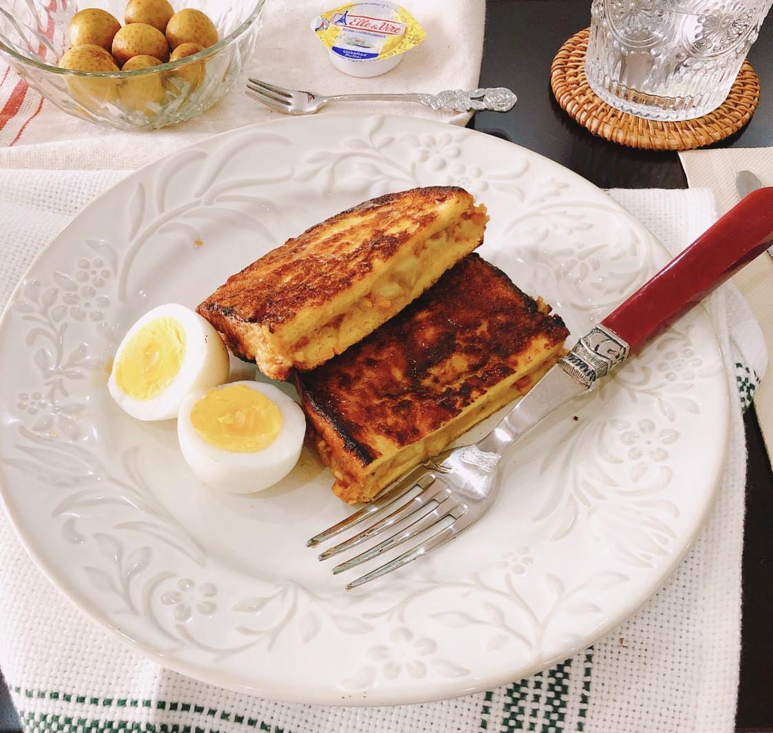 「一吃就高興」香蕉花生醬法式吐司