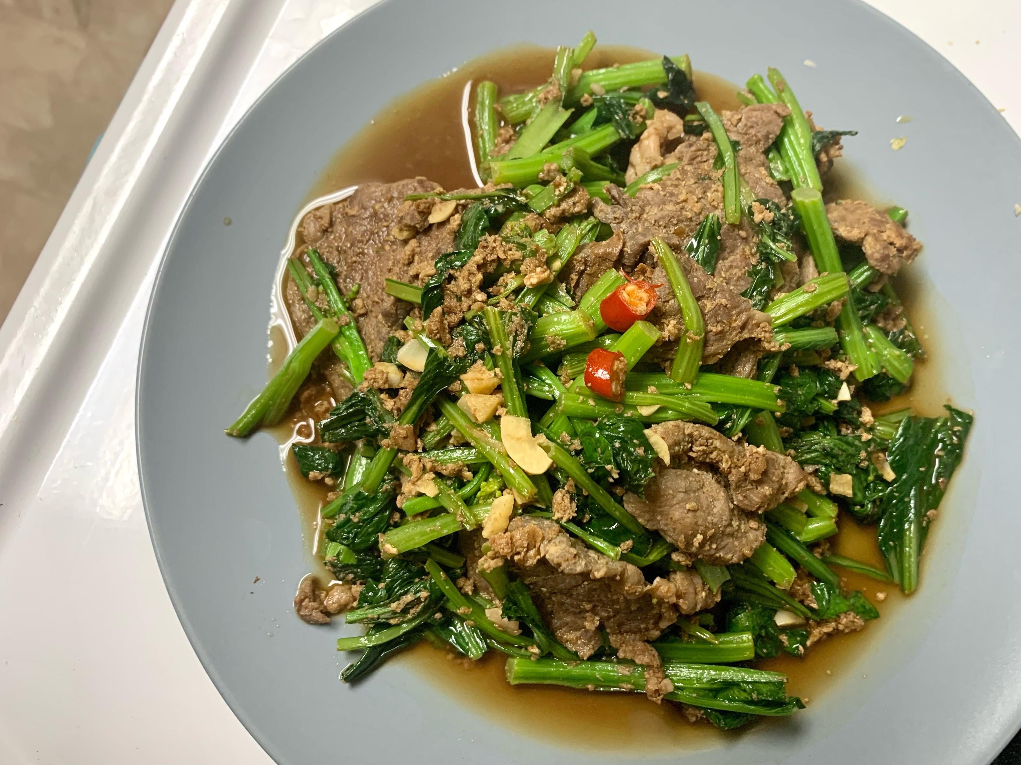 沙茶牛排炒油菜🥩🥬