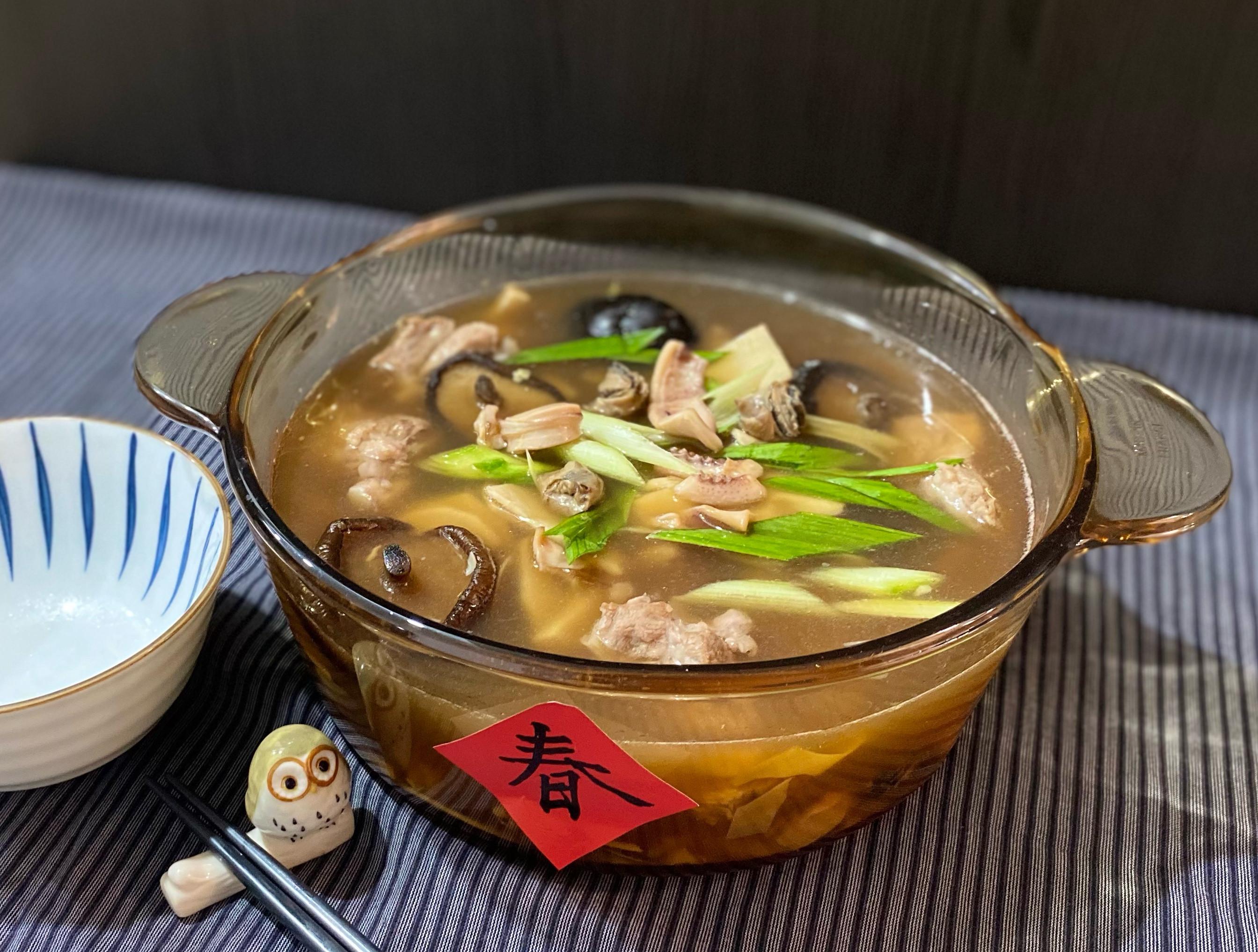 年菜料理:魷魚螺肉蒜