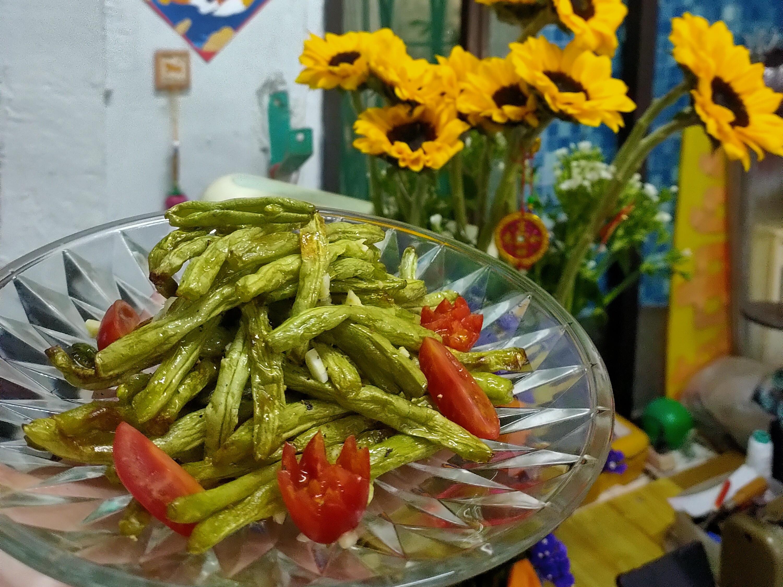 乾扁四季豆(飛利浦氣炸鍋)