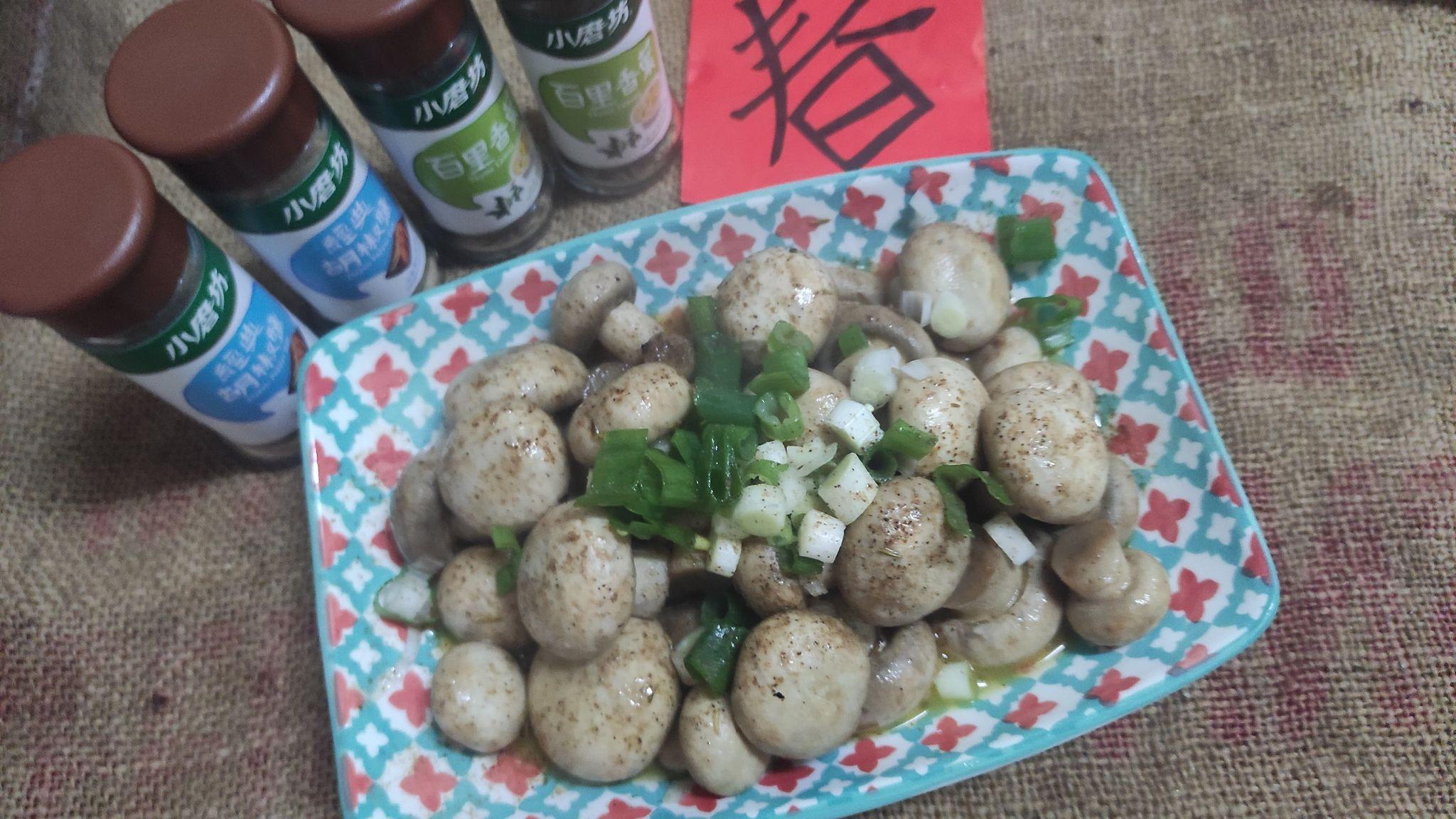 速炒無水奶油百里香草蘑菇