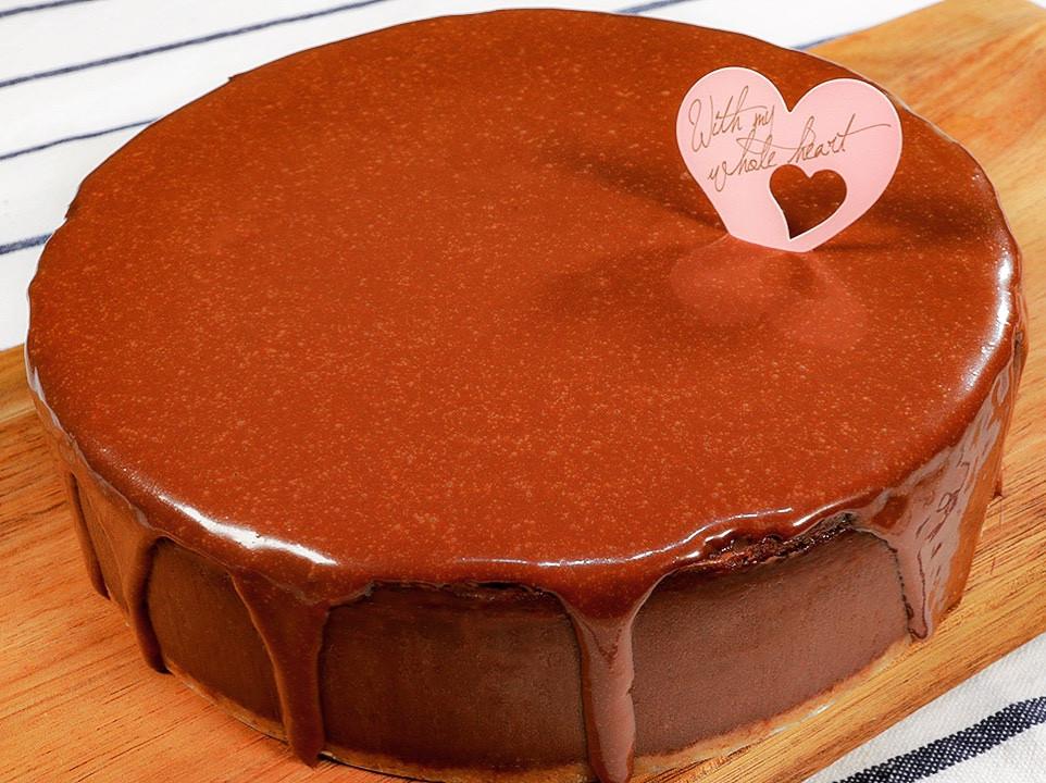 特濃烤巧克力起司蛋糕 | 情人節推介🍫