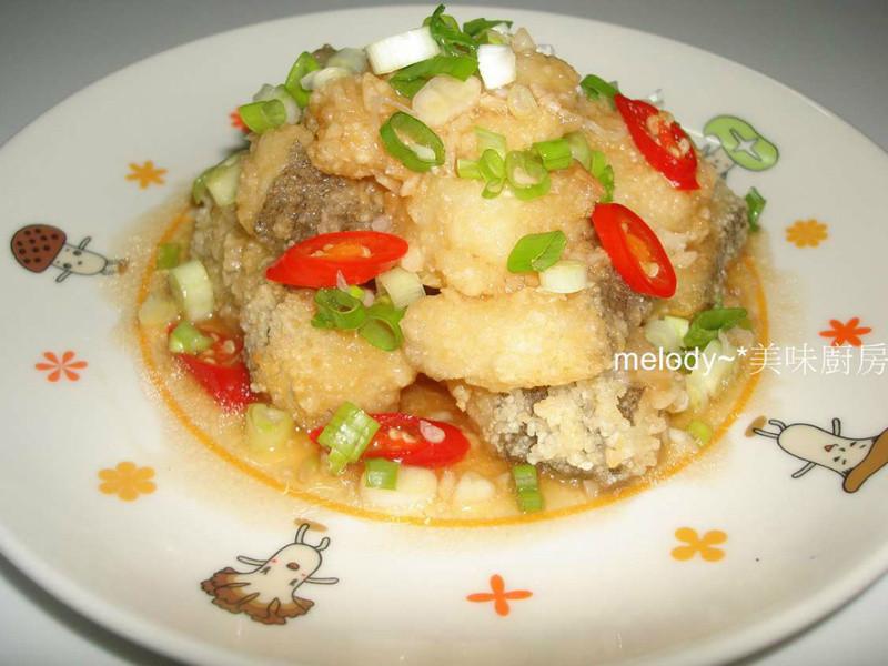 蒜香椒麻魚片