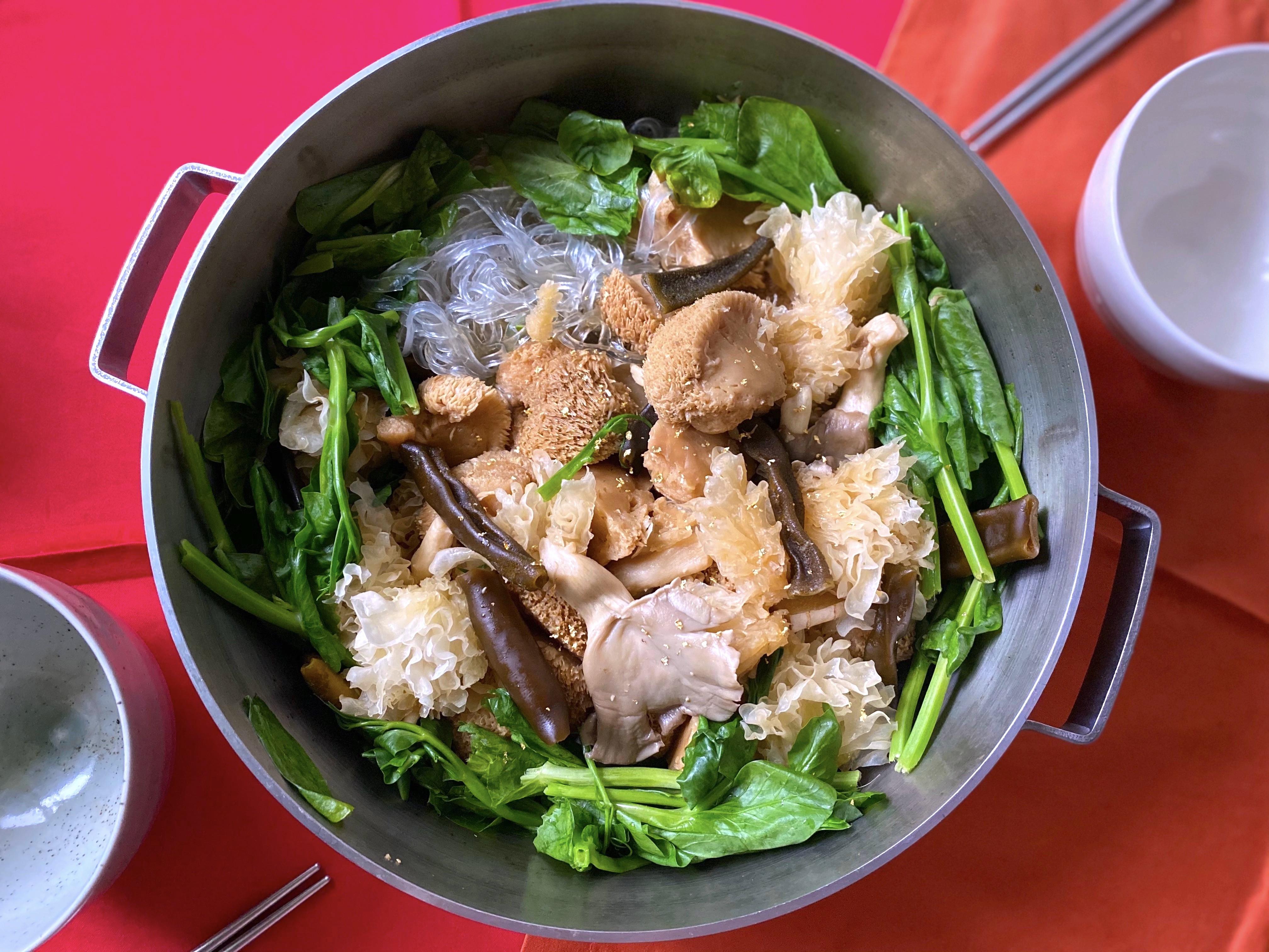 猴頭菇蔬菜盤(蔬食)