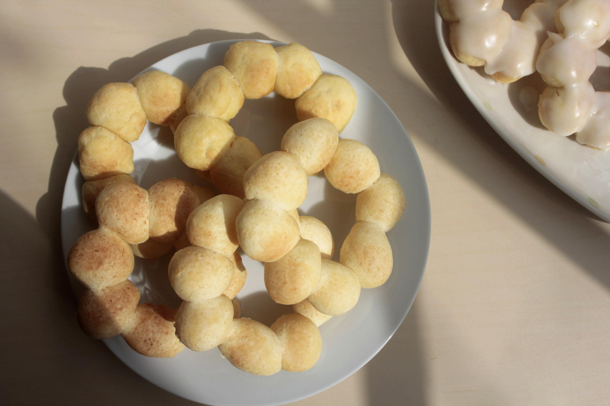 豆香QQ波堤甜甜圈,檸檬糖霜|氣炸鍋