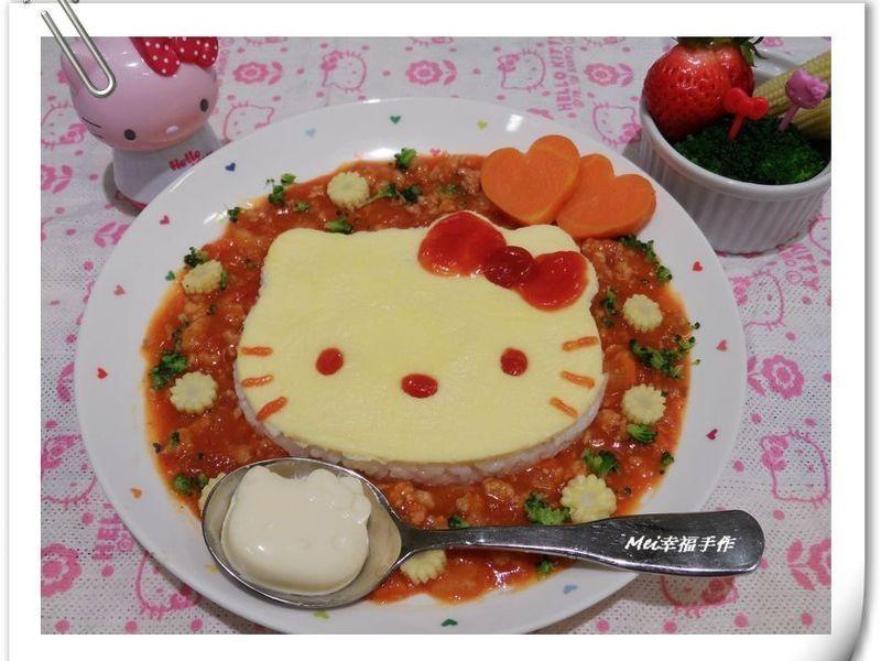 【親子食堂】義大利肉醬Hello Kitty蛋包飯飯