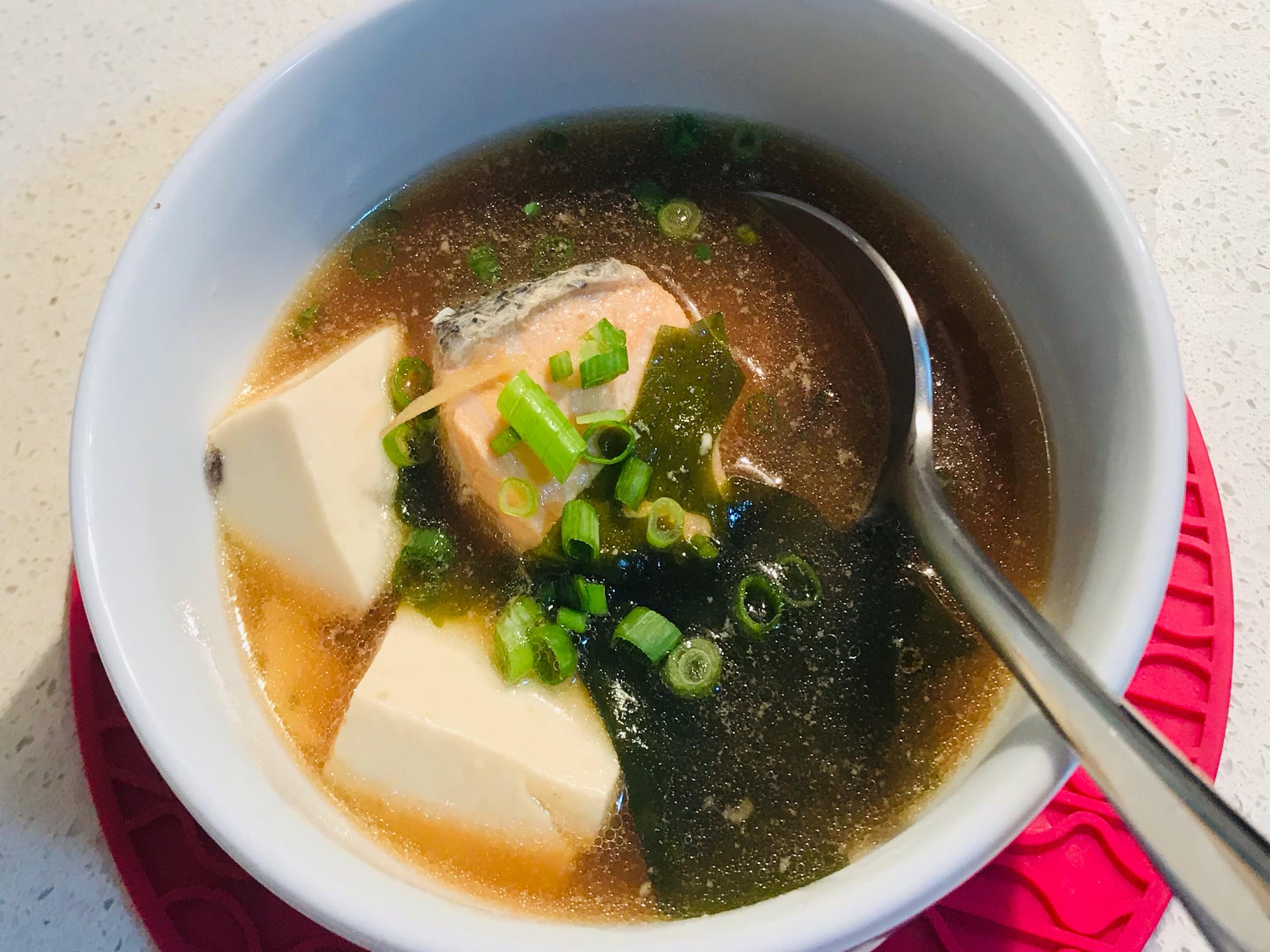 味噌豆腐魚湯