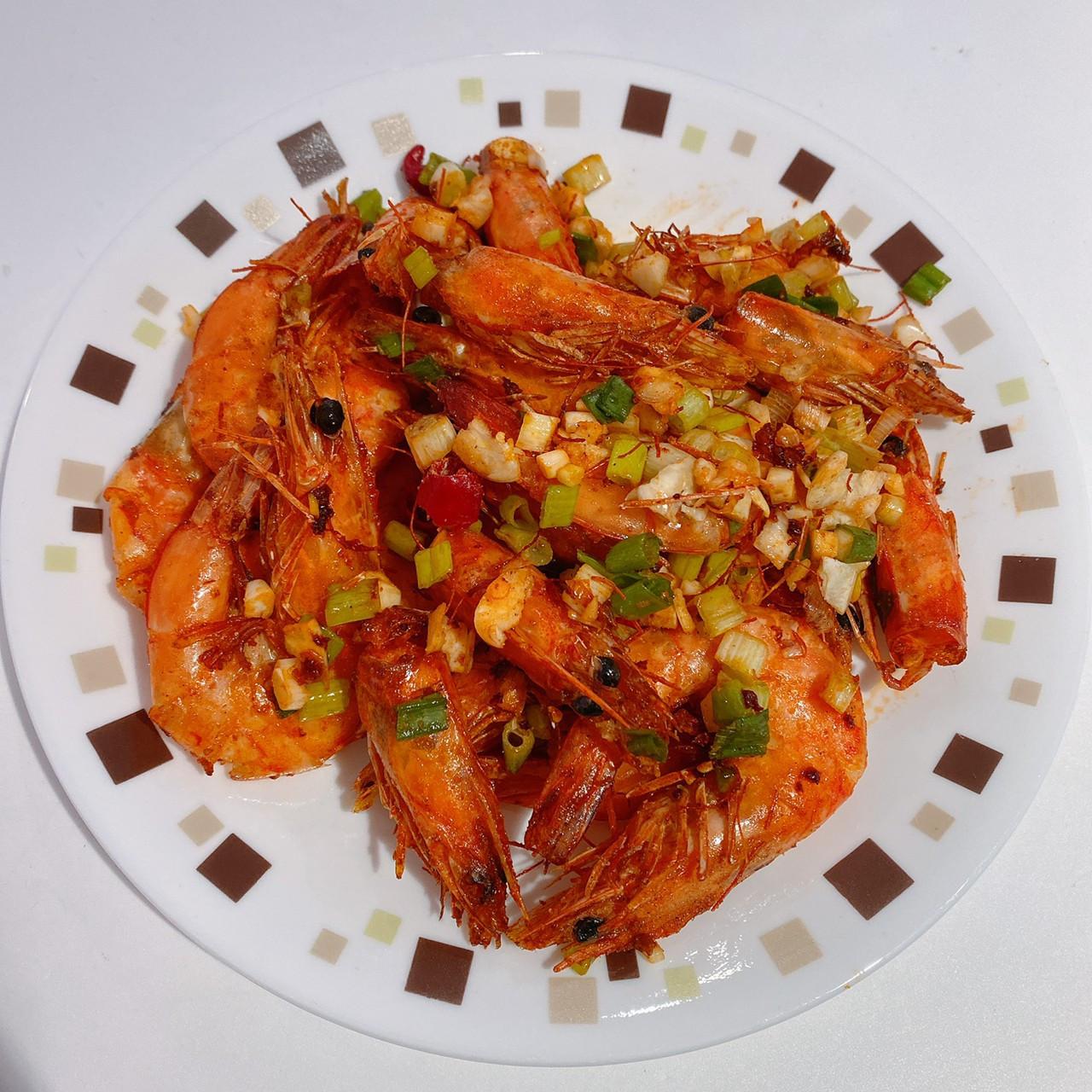 避風塘炒蝦 (飛利浦氣炸鍋)