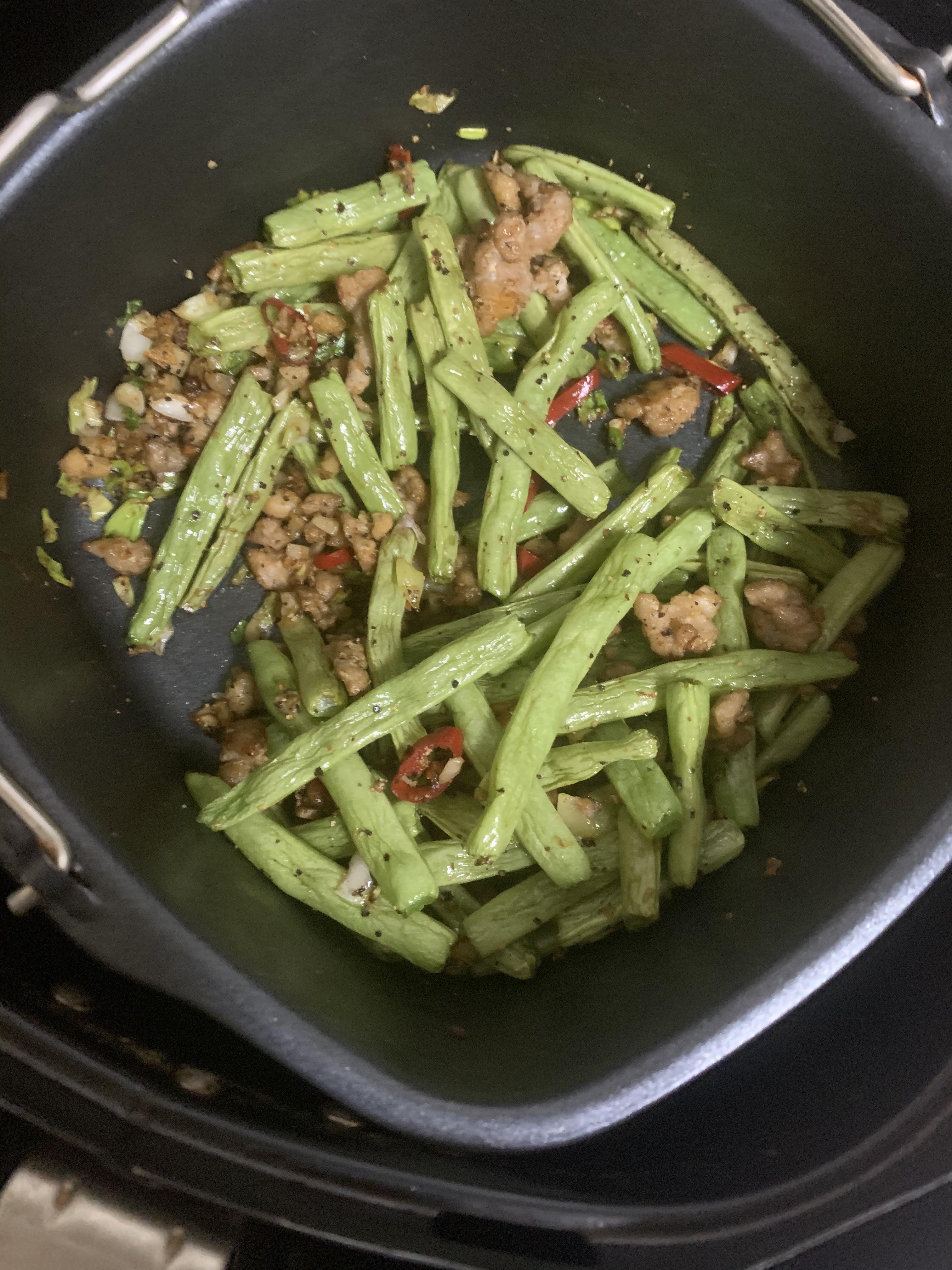 飛利浦氣炸鍋-乾煸四季豆