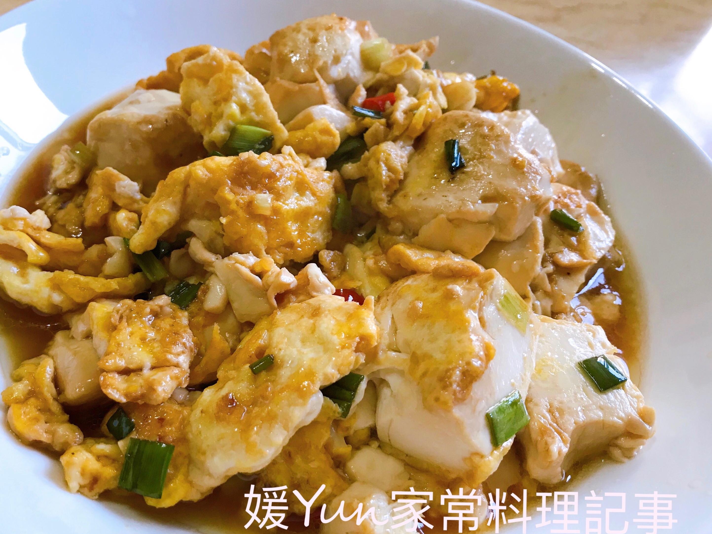 。紅燒豆腐蛋。好吃下飯