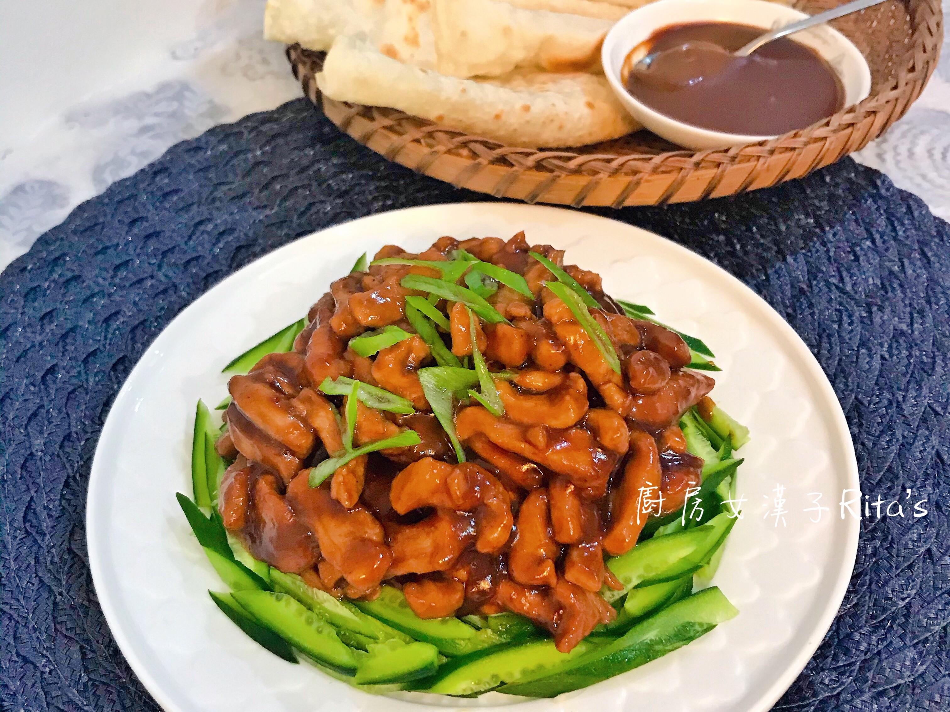 京醬肉絲佐春餅(含甜麵醬作法)