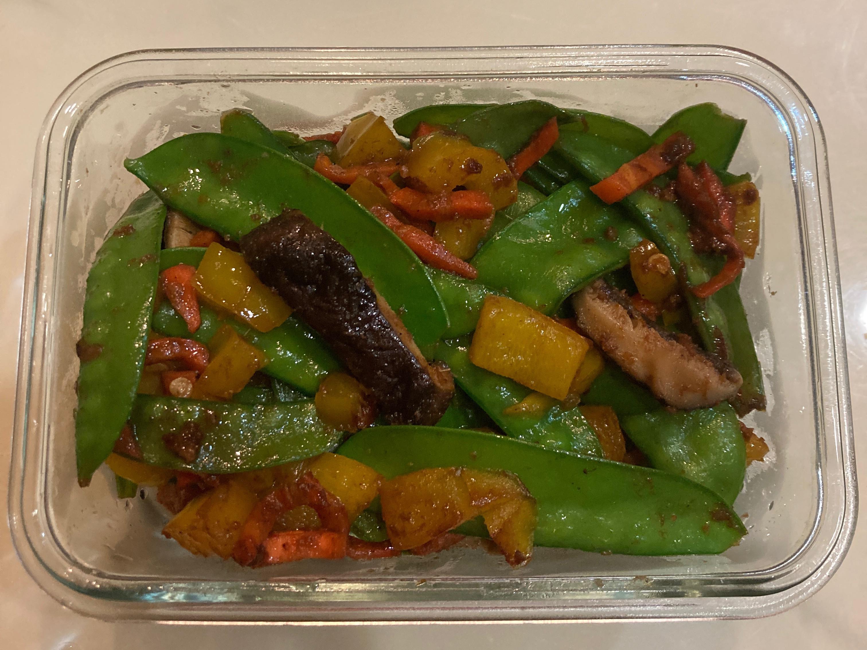 彩椒炒荷蘭豆