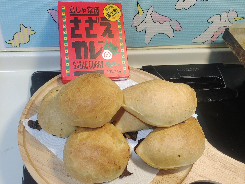 豬肉咖哩白醬地瓜南瓜麵包
