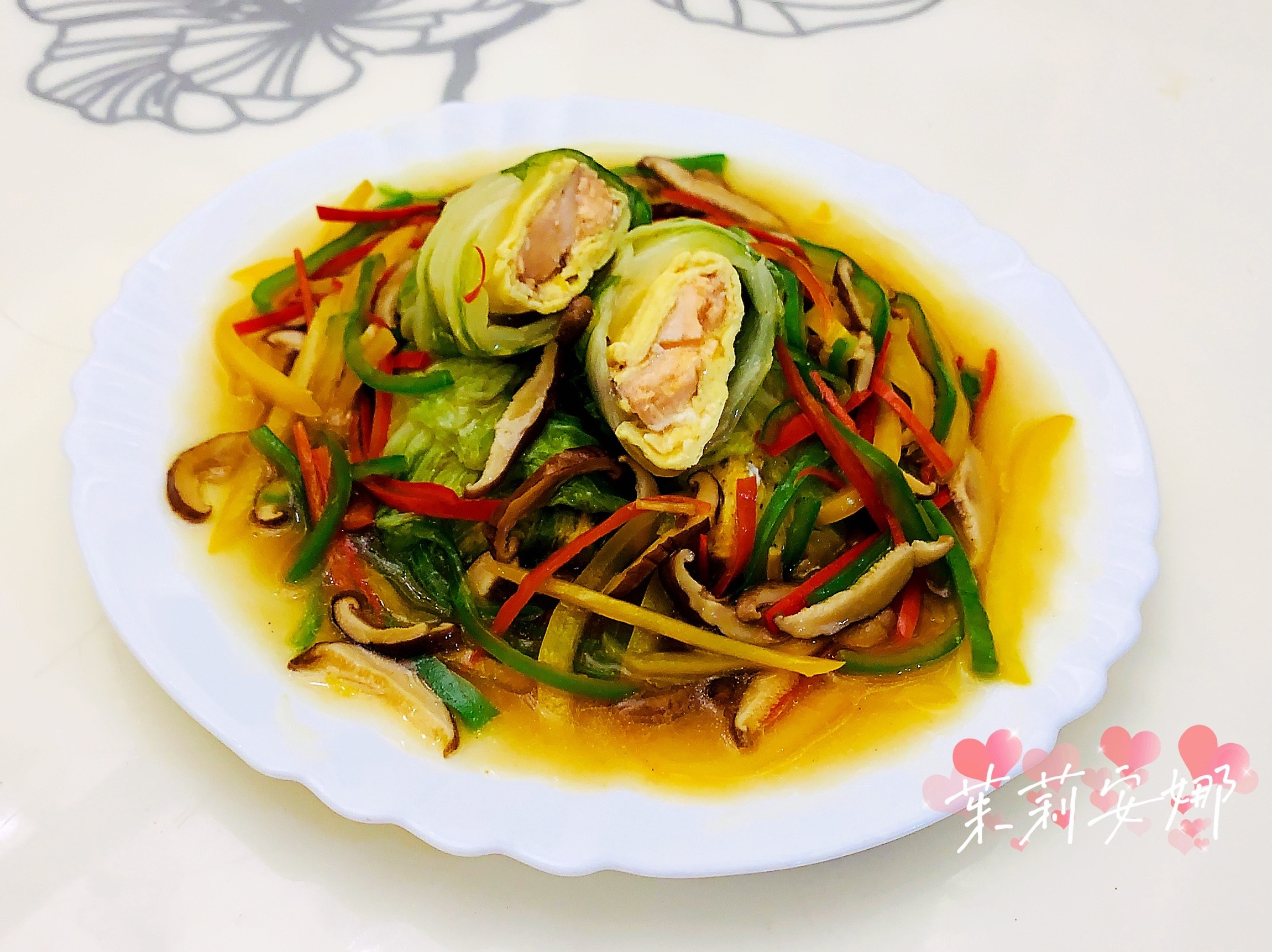 清蒸白菜鮭魚捲