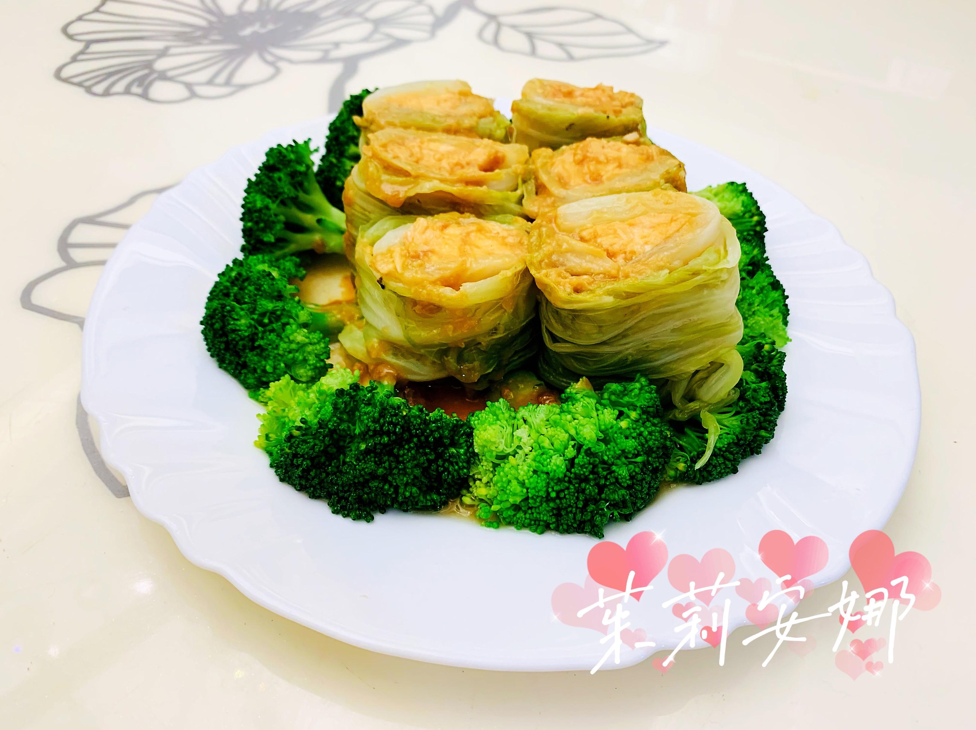 味增高麗菜鮭魚捲