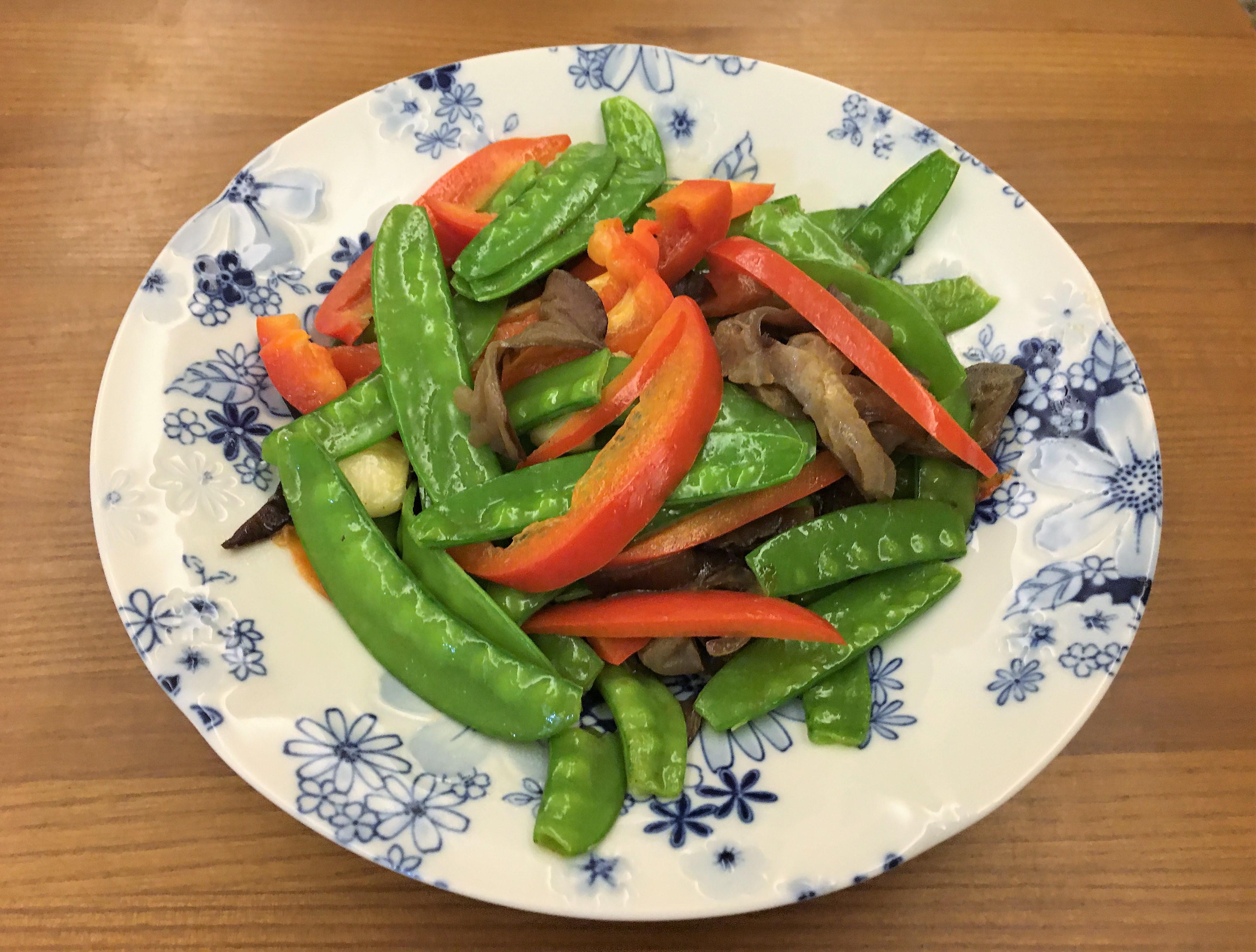 荷蘭豆炒甜椒