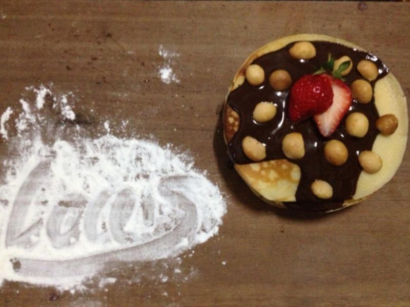 123簡單做點心~巧克力草莓薄餅