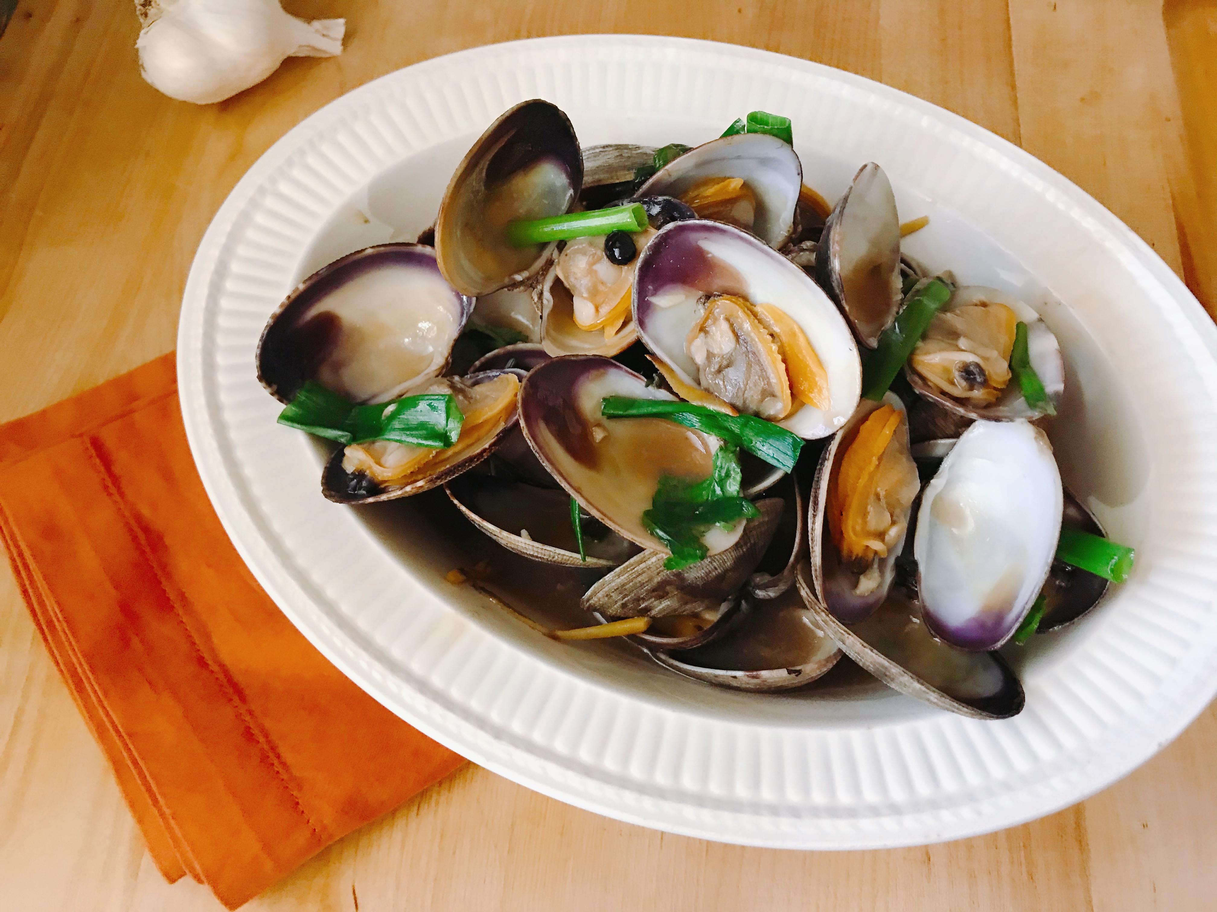 【 家常菜】粵菜豆豉炒蛤蠣
