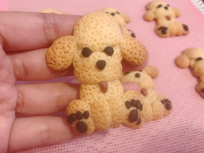 泰迪狗狗曲奇餅乾(無模具)