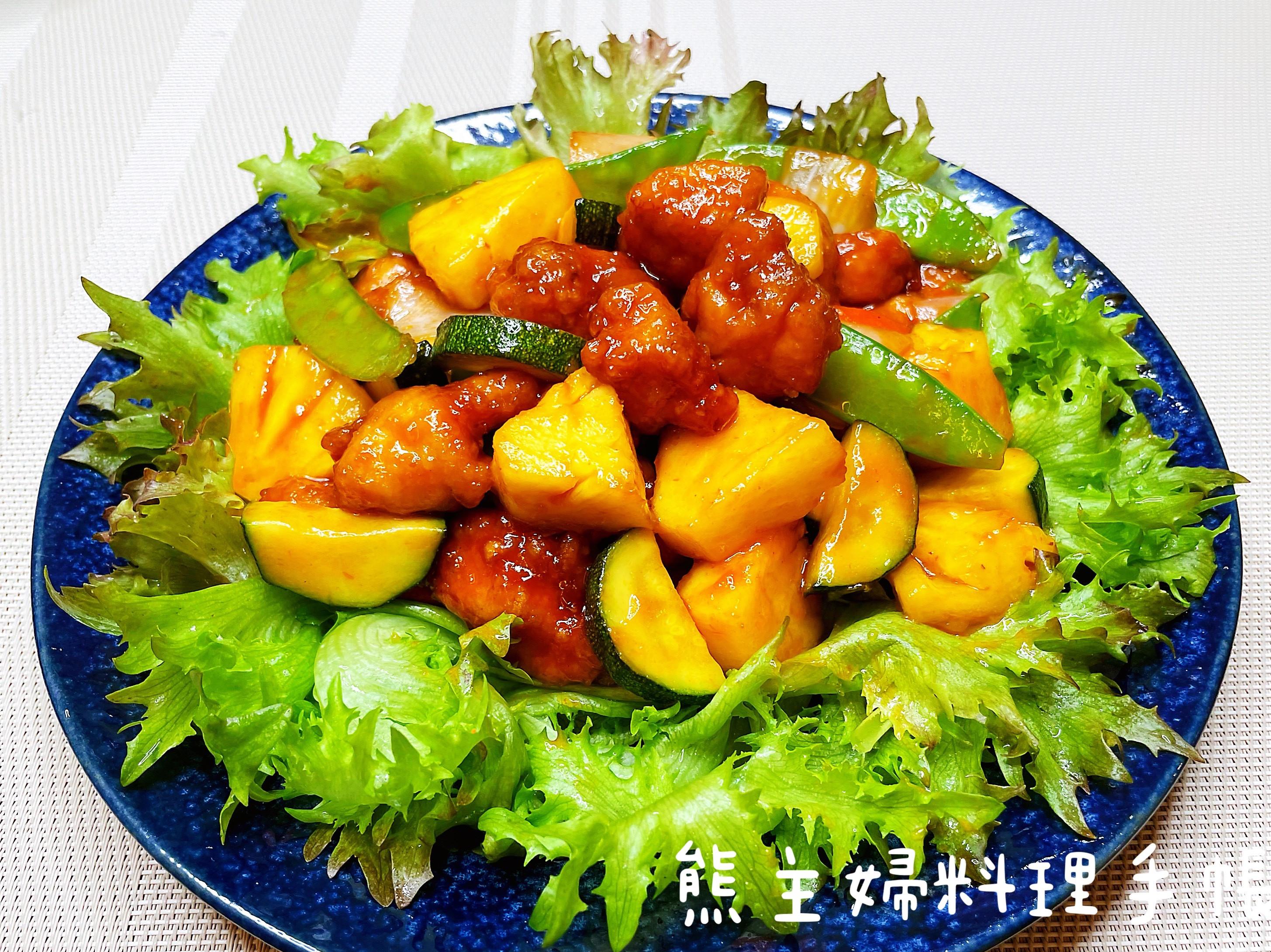 鳳梨糖醋雞丁(簡易/便當菜)