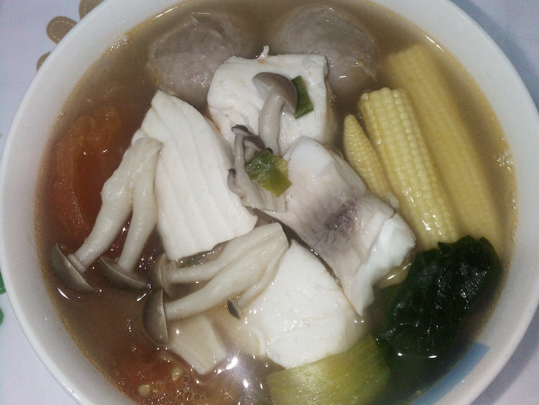 鯛魚片小火鍋