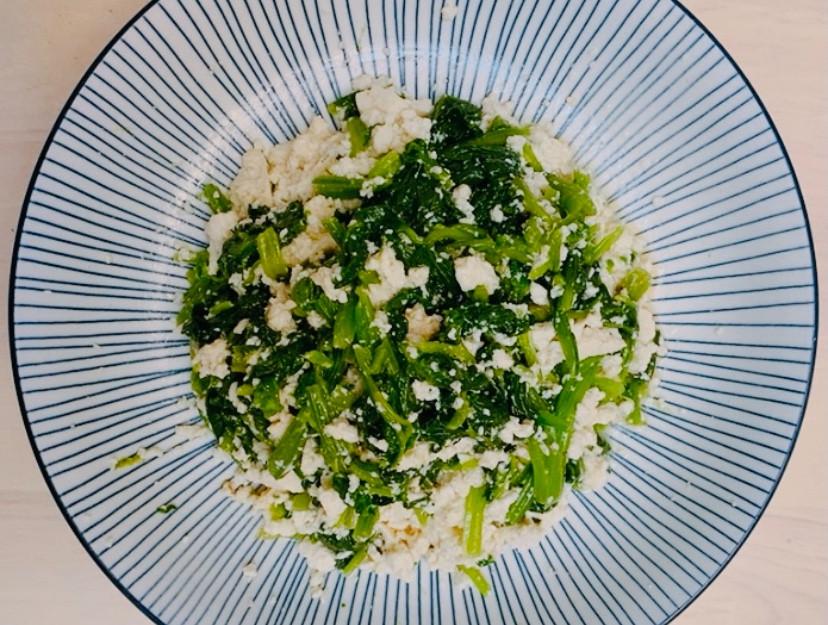 快速料理 涼拌菠菜豆腐