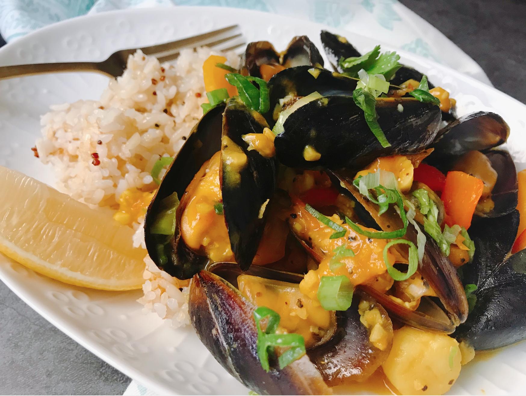 【 檀島人妻】西班牙式辣炒蒜味海鮮燴飯