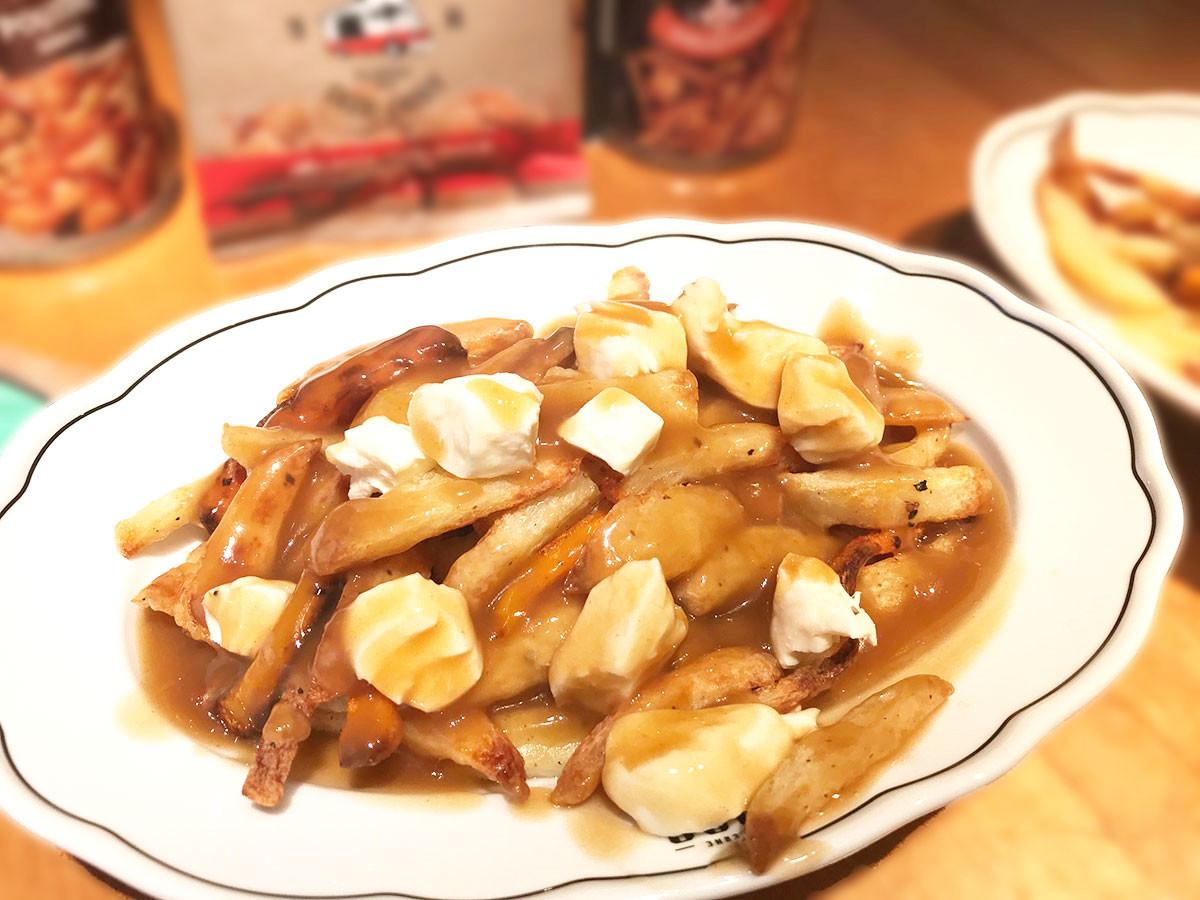加拿大美食Poutine 起士肉汁薯條
