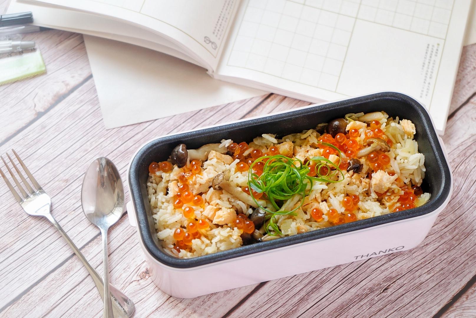 三文魚親子炊飯