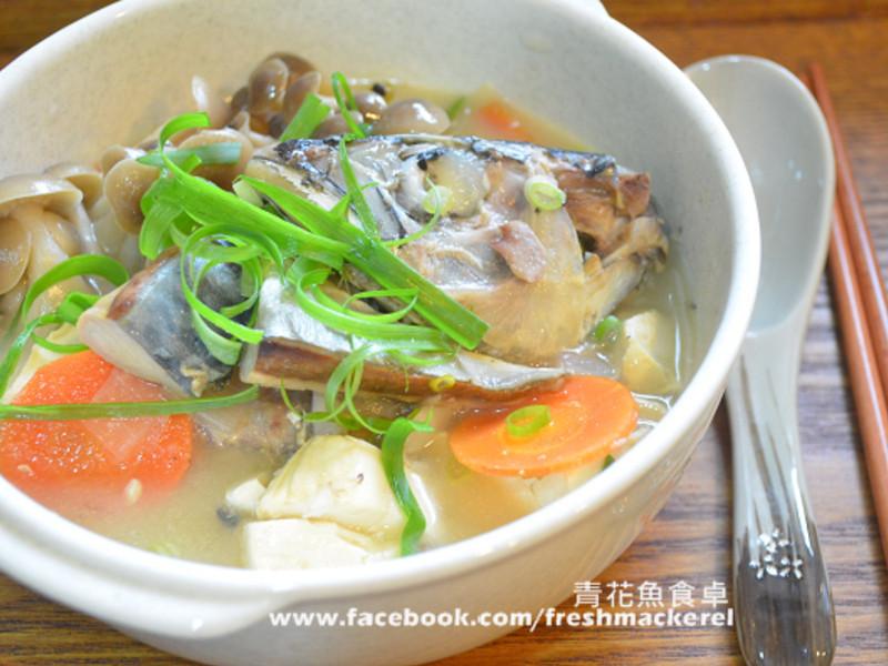 暖呼呼的味噌鯖魚湯