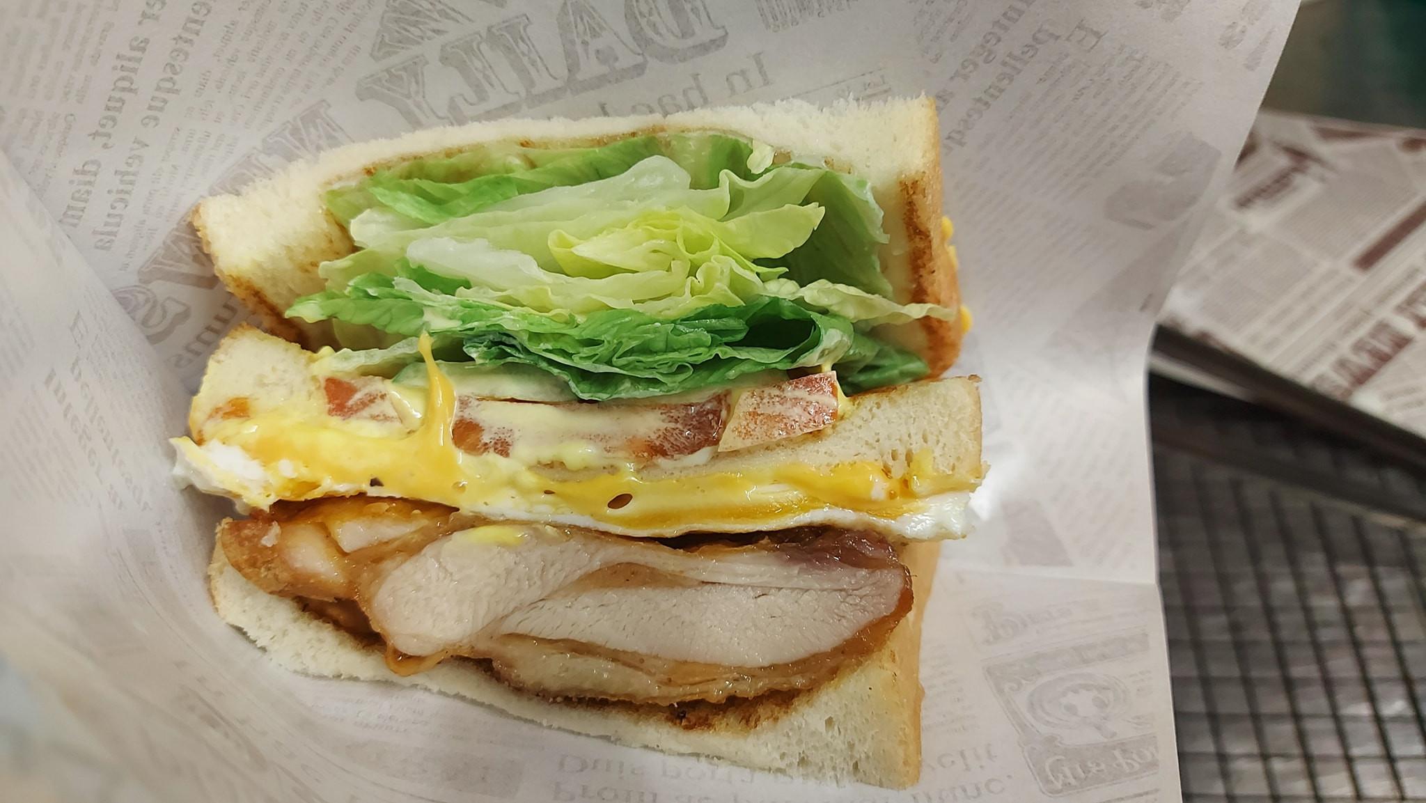 泰式檸檬雞腿三明治