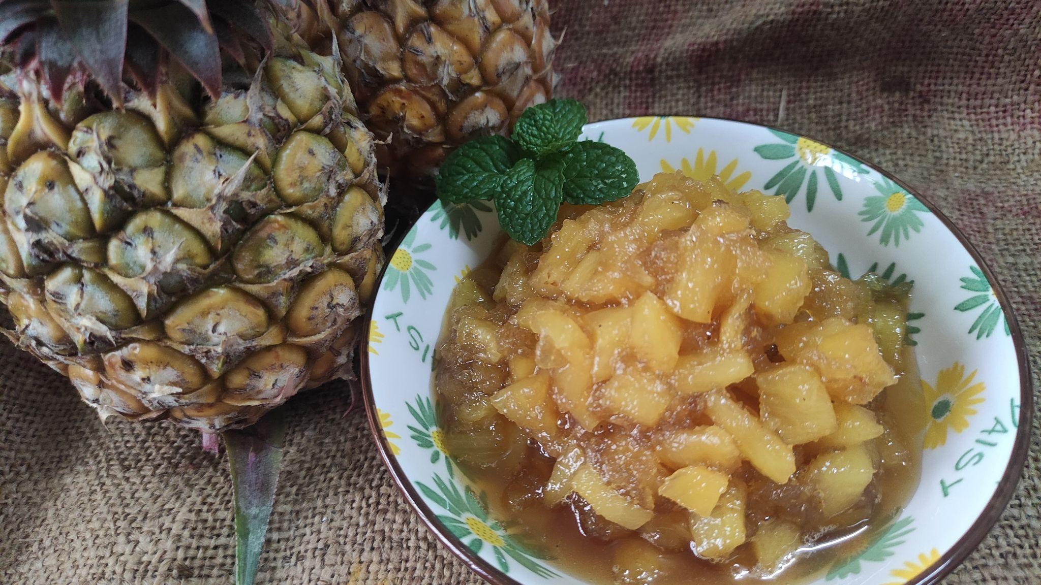 自製新鮮鳳梨果醬(添加蘋果低糖版)