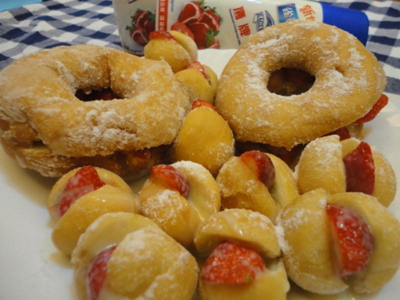 """<草莓就愛鷹牌煉奶>情定--草莓愛""""煉""""甜甜圈"""