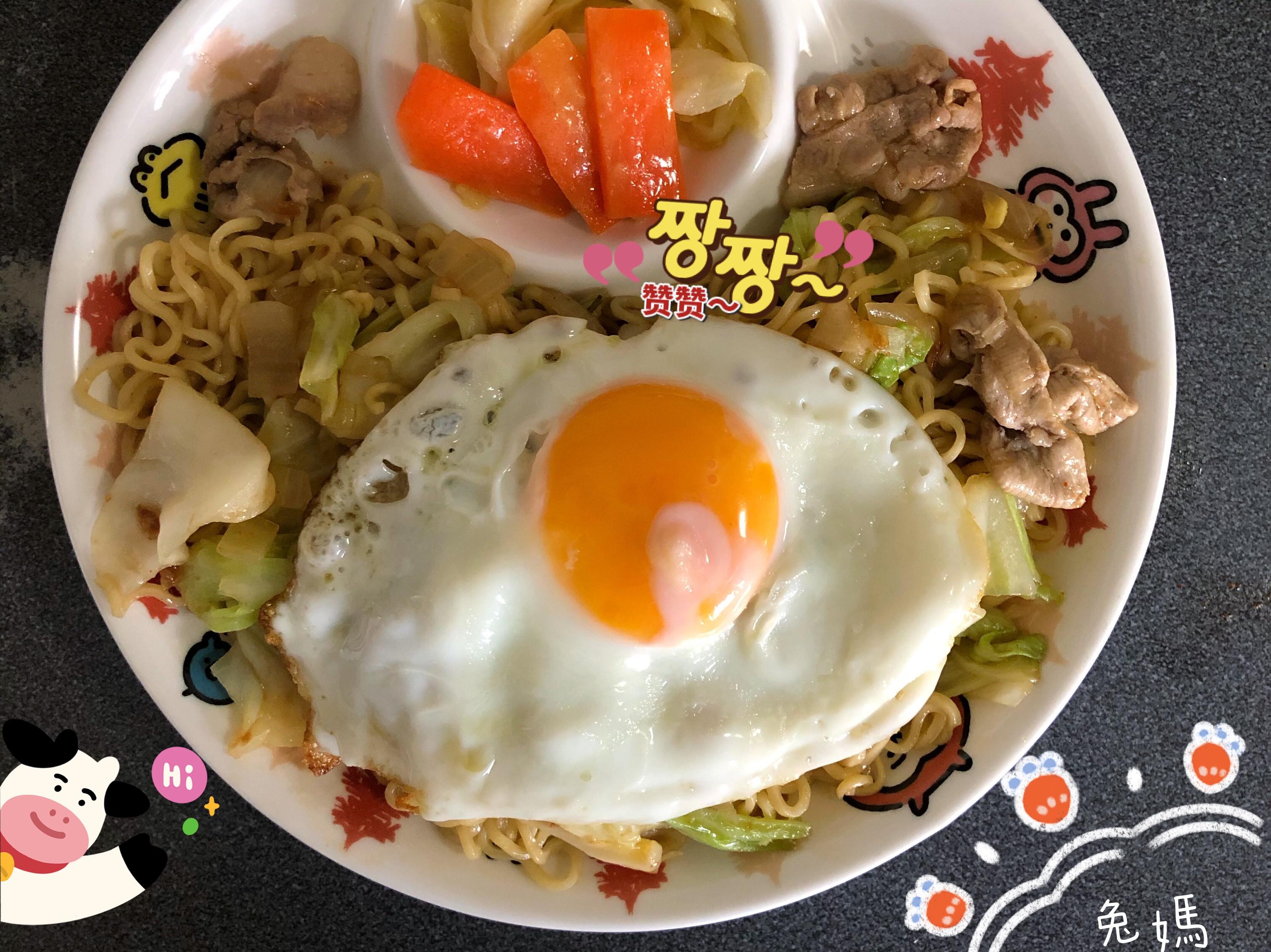 豬肉炒印尼泡麵