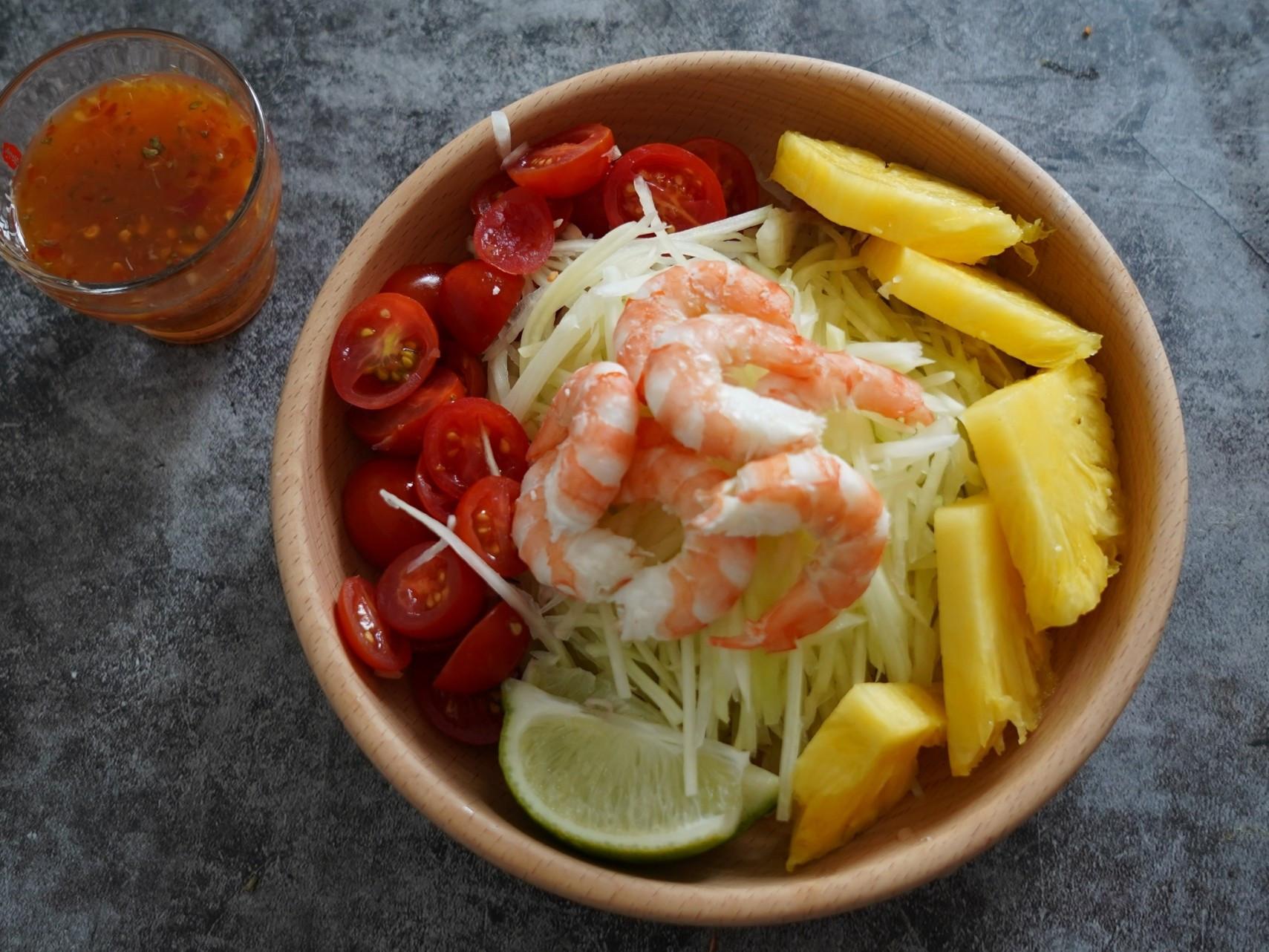 【挺鳳農】超清爽鳳梨泰式鮮蝦沙拉
